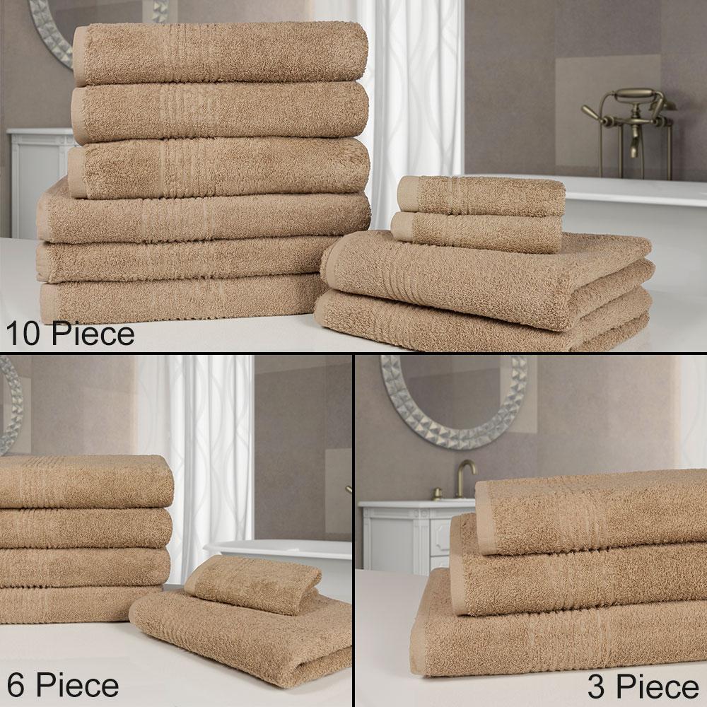 Highams 100 algod n egipcio deluxe suave toalla fardo 550gsm 3 6 o 10 piezas ebay - Toallas algodon egipcio ...