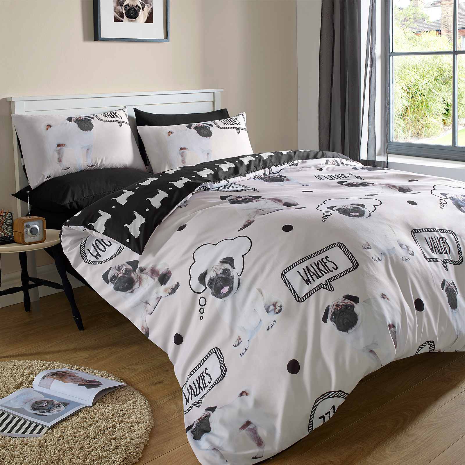 Attractive Dreamscene Pug Duvet Cover With Pillow Case Bedding Set OR Dog Bed Blanket  Throw