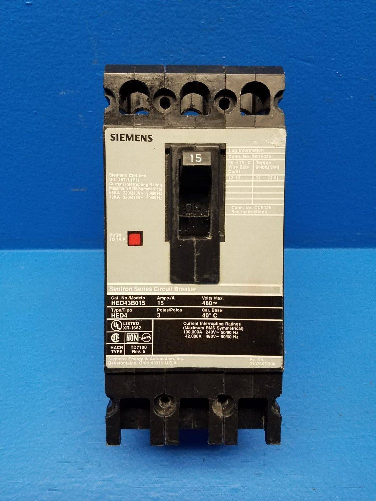 Siemens i t e hed43b015 15a sentron circuit breaker hed4 480v ite 3 siemens i t e hed43b015 15a sentron circuit breaker hed4 480v ite 3 pole 15 amp mm0803 5 river city industrial keyboard keysfo Gallery