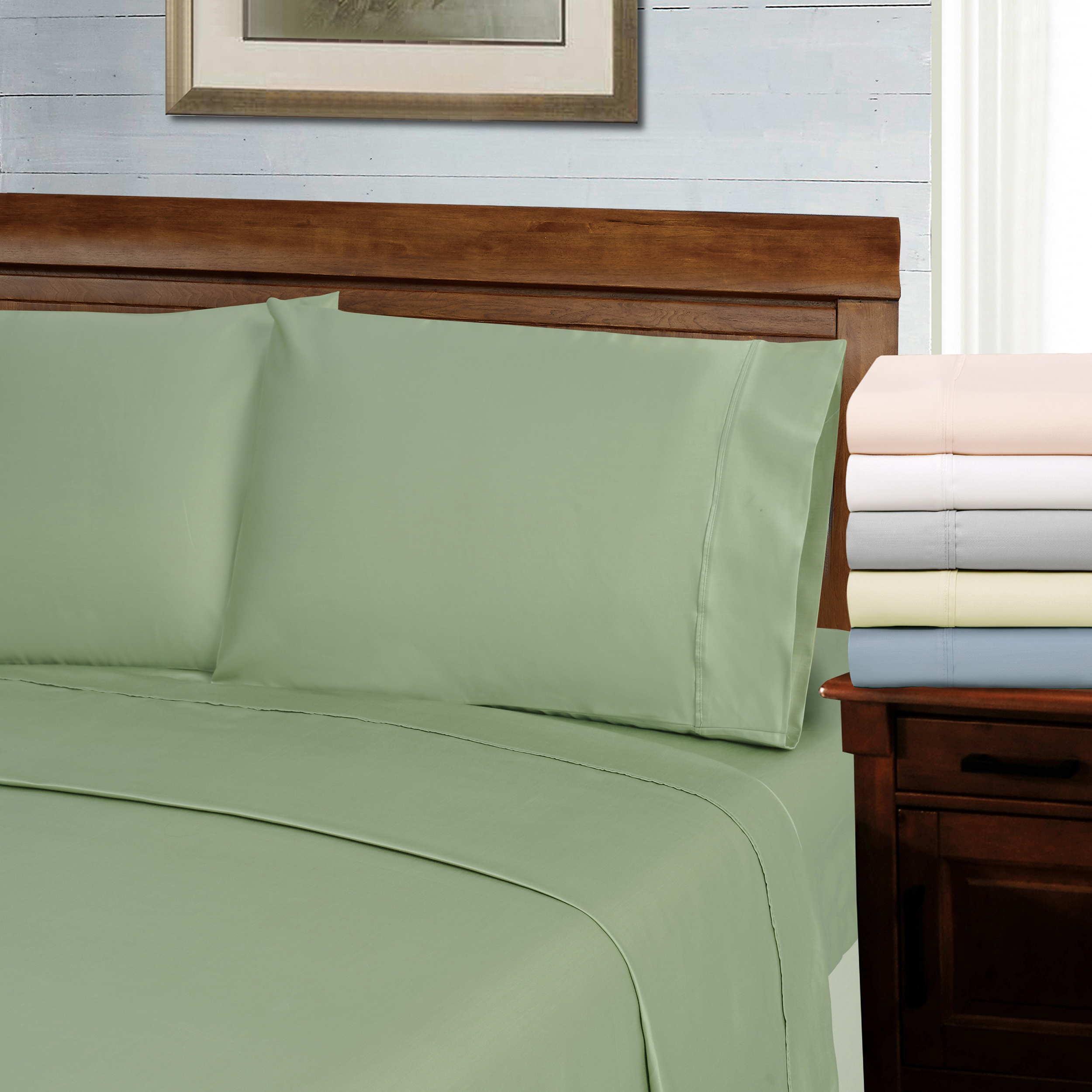 1000-Thread-Count-Tencel-Polyester-Ultra-Soft-Pillowcase-Set-6-Colors thumbnail 4