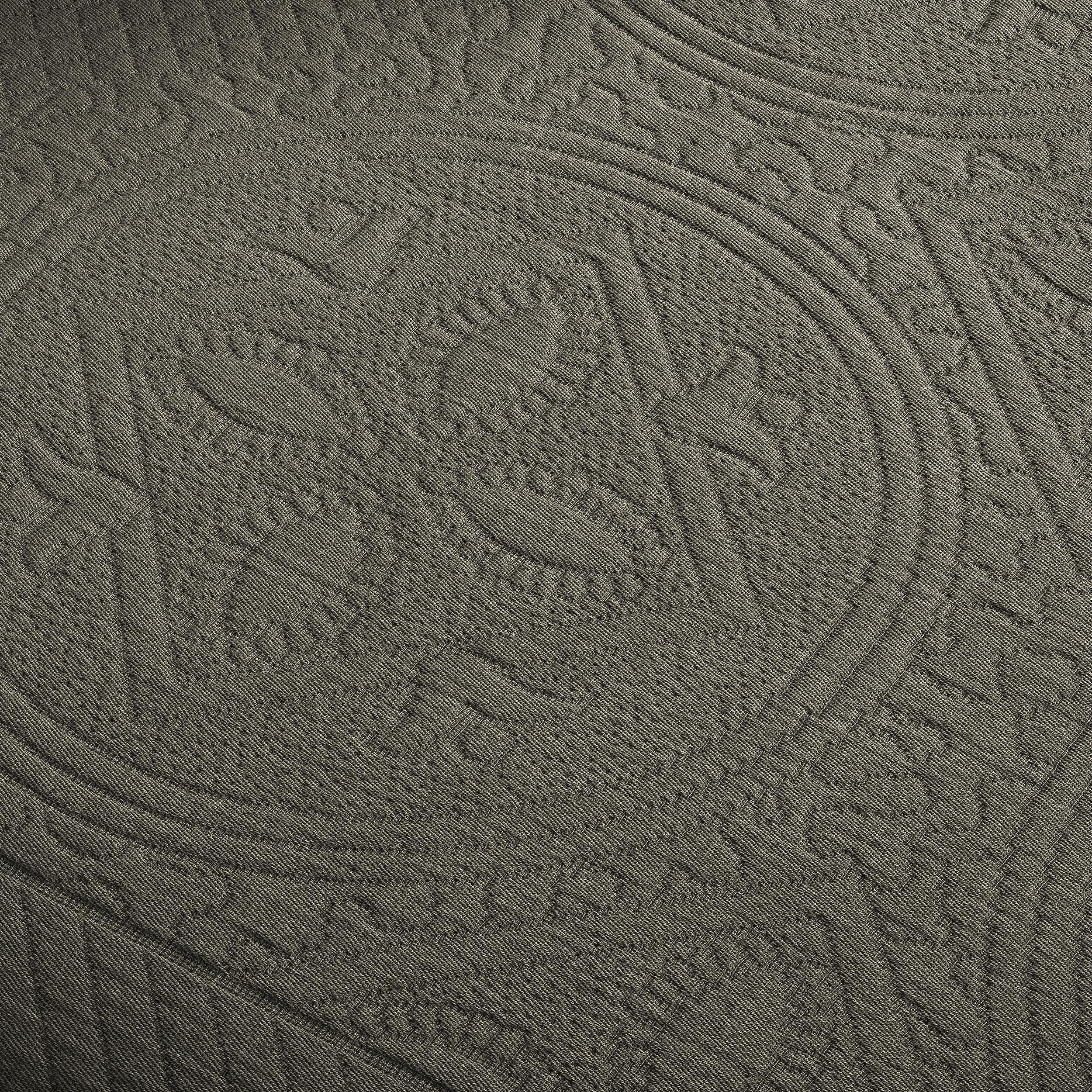 Celtic-Circle-Cotton-Jacquard-Matelasse-Scalloped-Bedspread-Set thumbnail 14