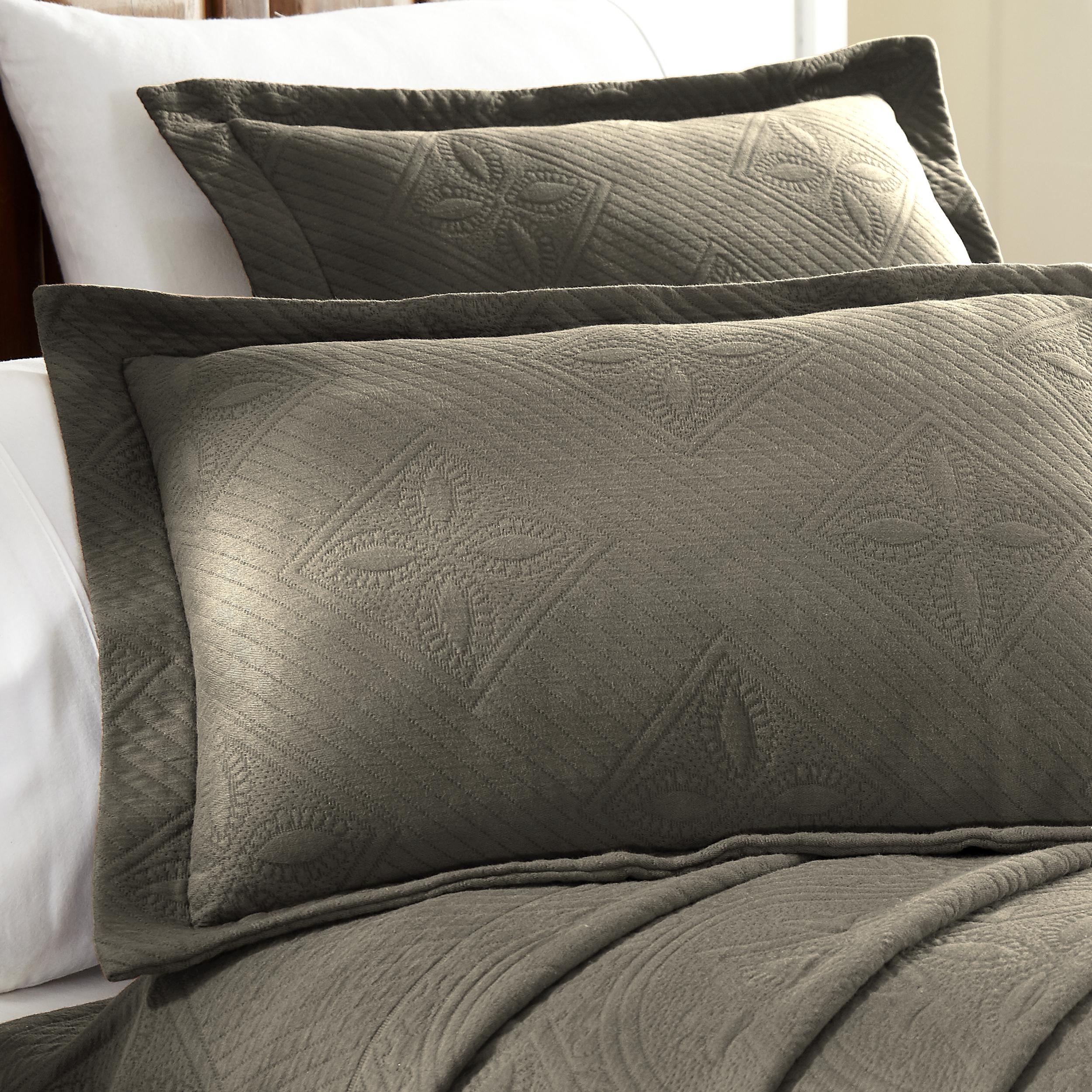 Celtic-Circle-Cotton-Jacquard-Matelasse-Scalloped-Bedspread-Set thumbnail 15