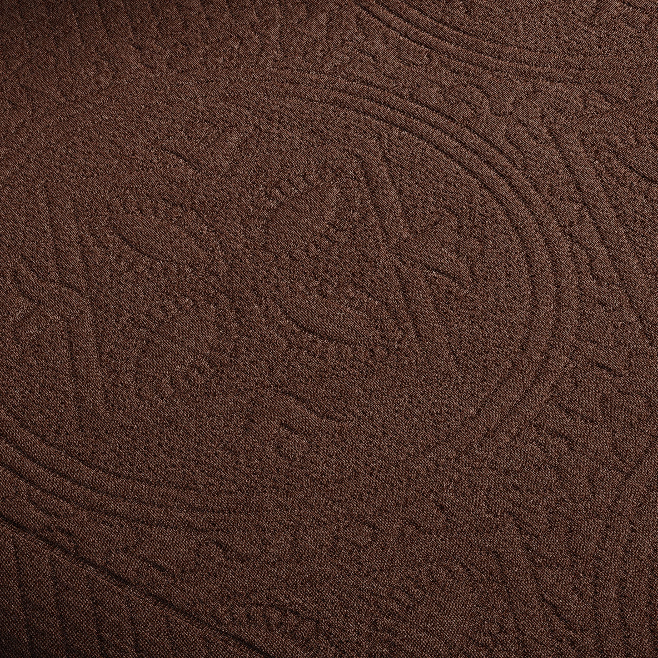 Celtic-Circle-Cotton-Jacquard-Matelasse-Scalloped-Bedspread-Set thumbnail 11