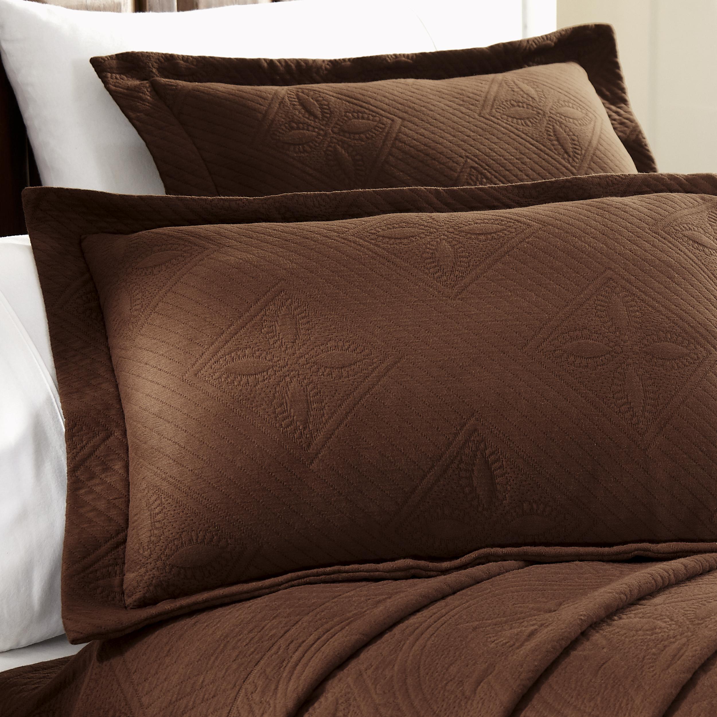 Celtic-Circle-Cotton-Jacquard-Matelasse-Scalloped-Bedspread-Set thumbnail 12