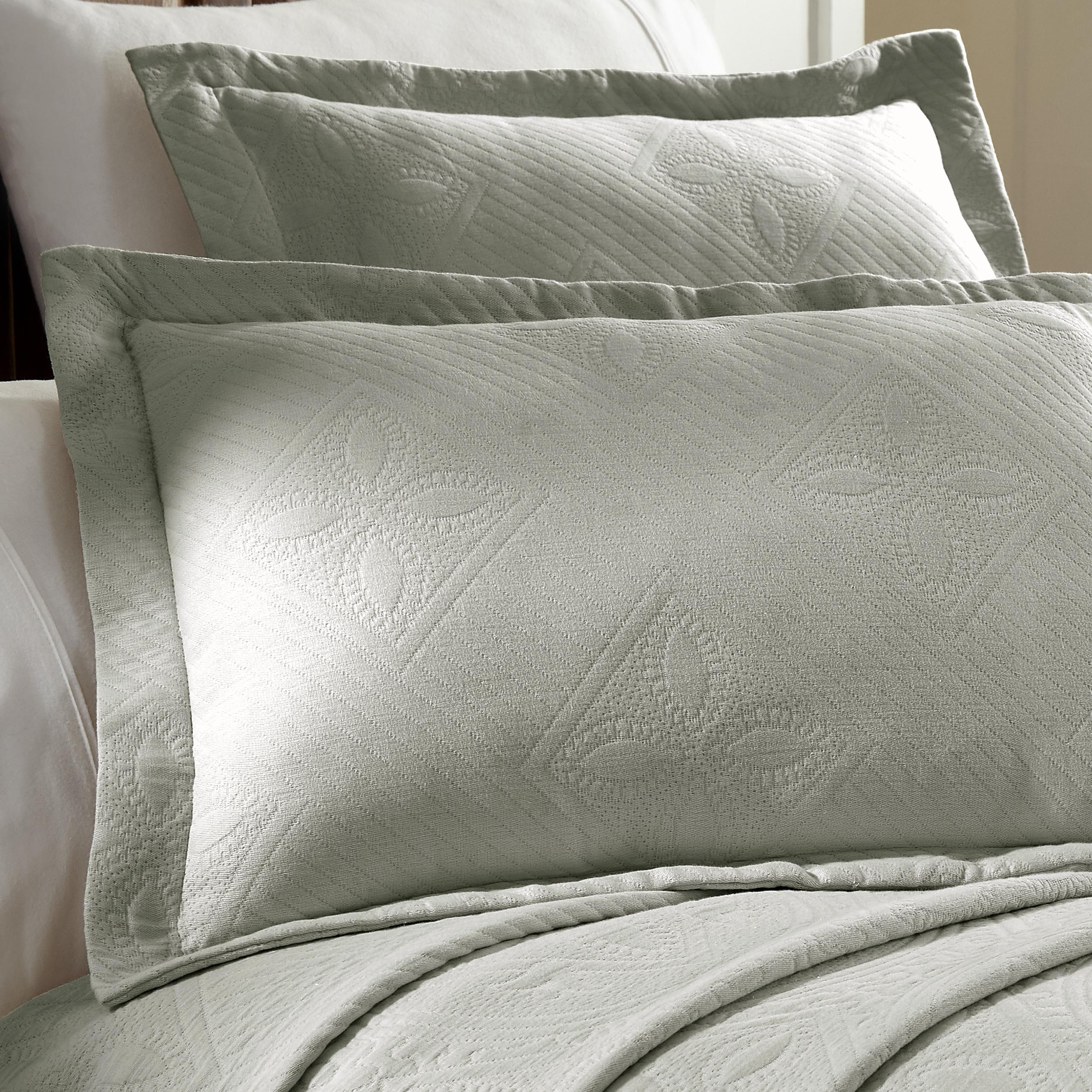 Celtic-Circle-Cotton-Jacquard-Matelasse-Scalloped-Bedspread-Set thumbnail 24