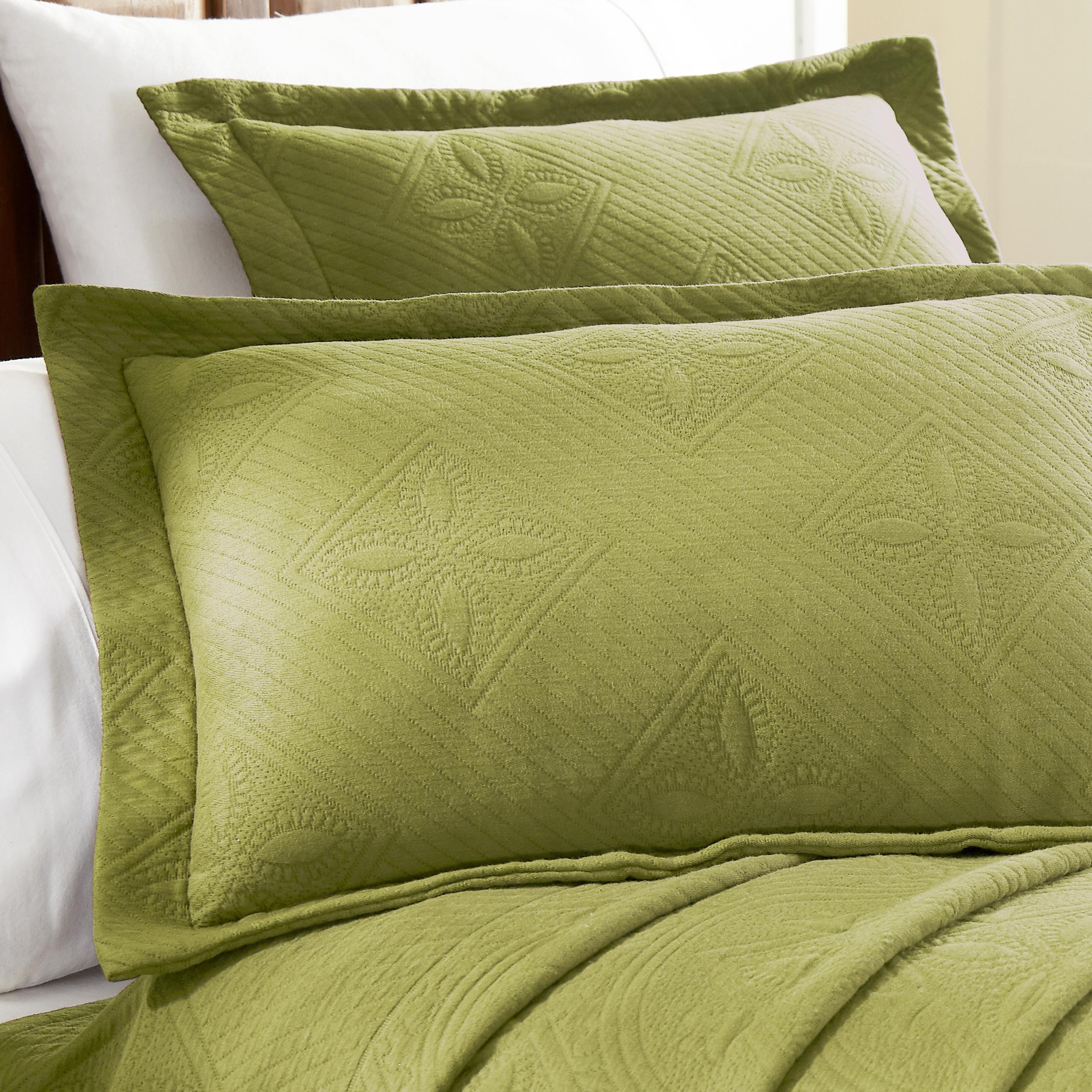 Celtic-Circle-Cotton-Jacquard-Matelasse-Scalloped-Bedspread-Set thumbnail 29