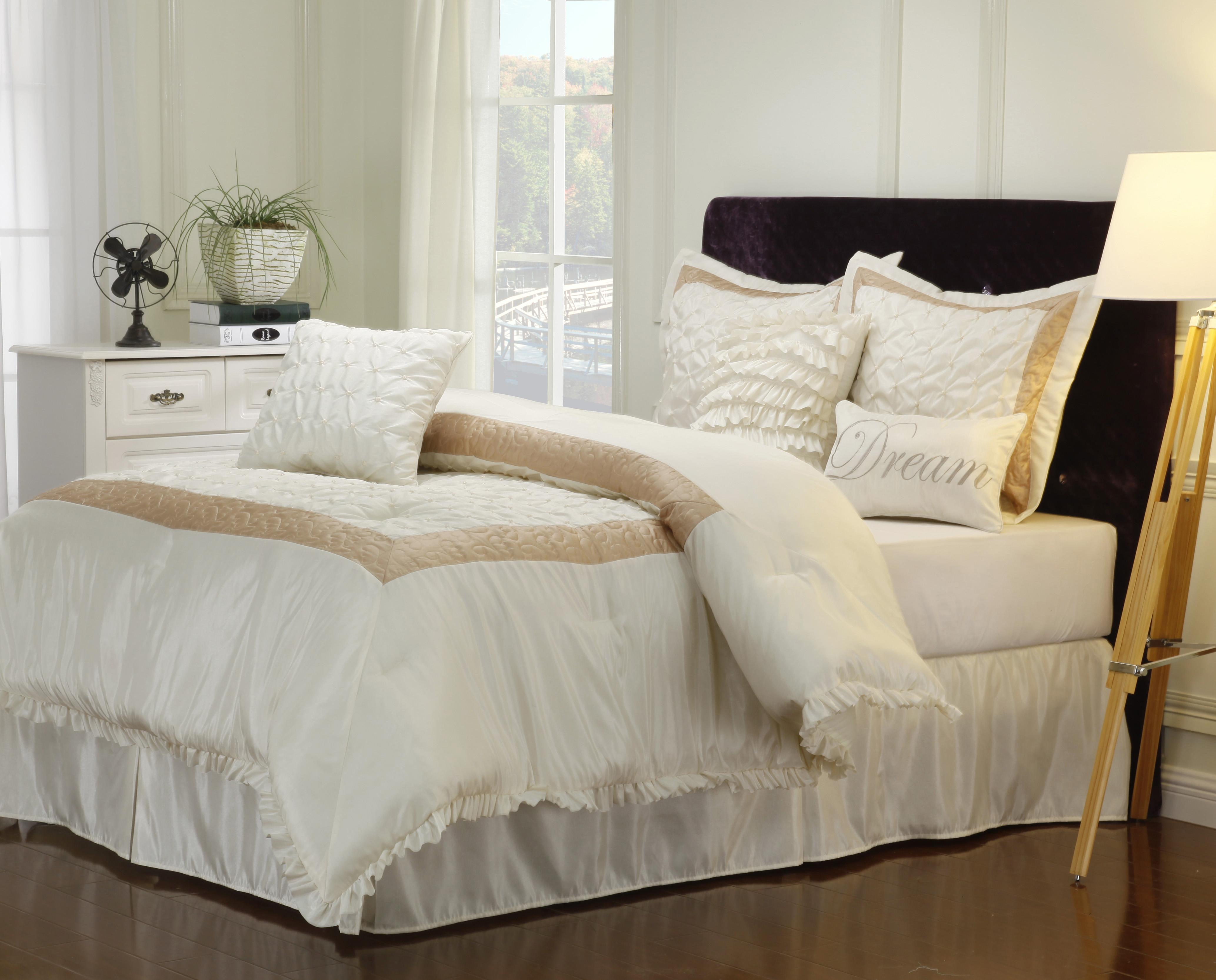 7-12-Piece Bedding Comforter Set, Shams, Decorative
