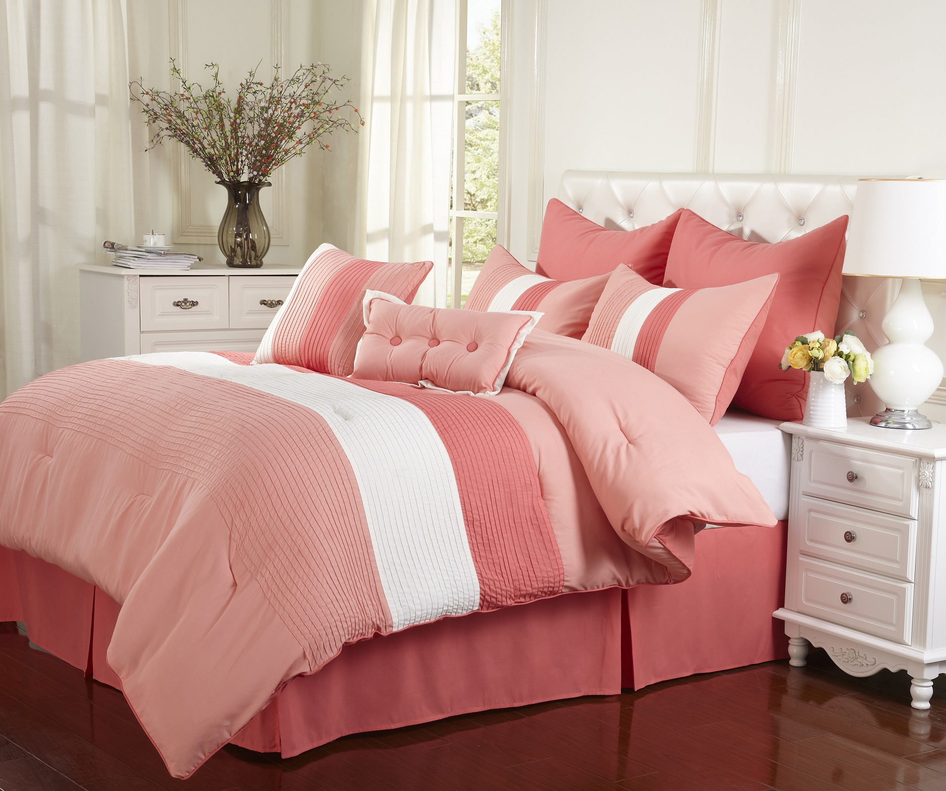 Florence 8-Piece Comforter Set With Matching Shams and Bed Skirt ...