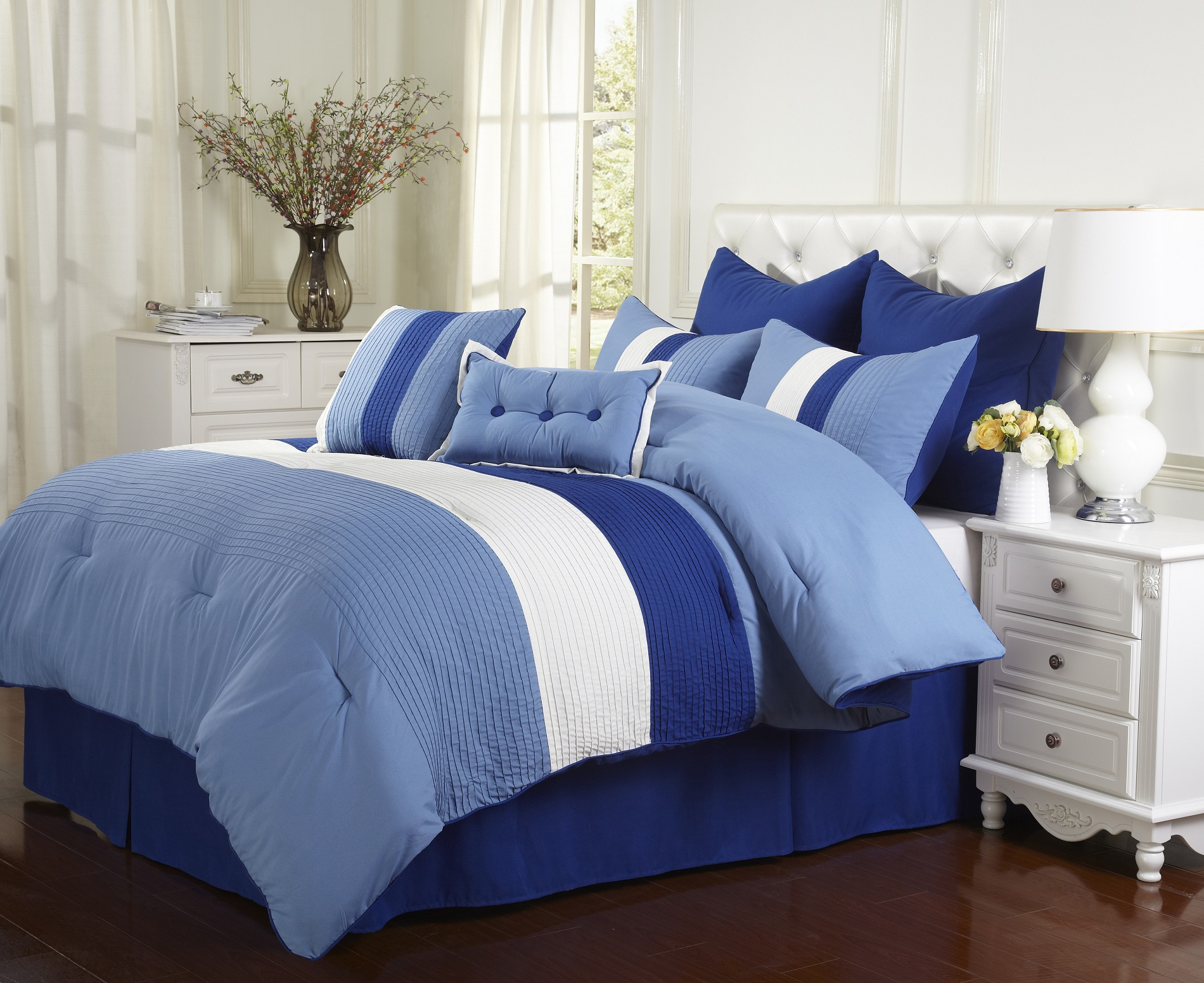 florence 8 piece comforter set with shams bed skirt and pillow 4 rh ebay co uk