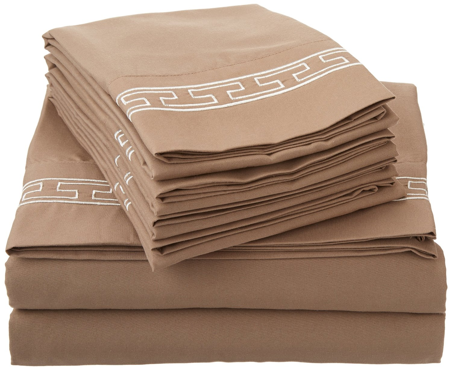Regal Embroidery 6 Piece Sheet Set Duvets Covers Or