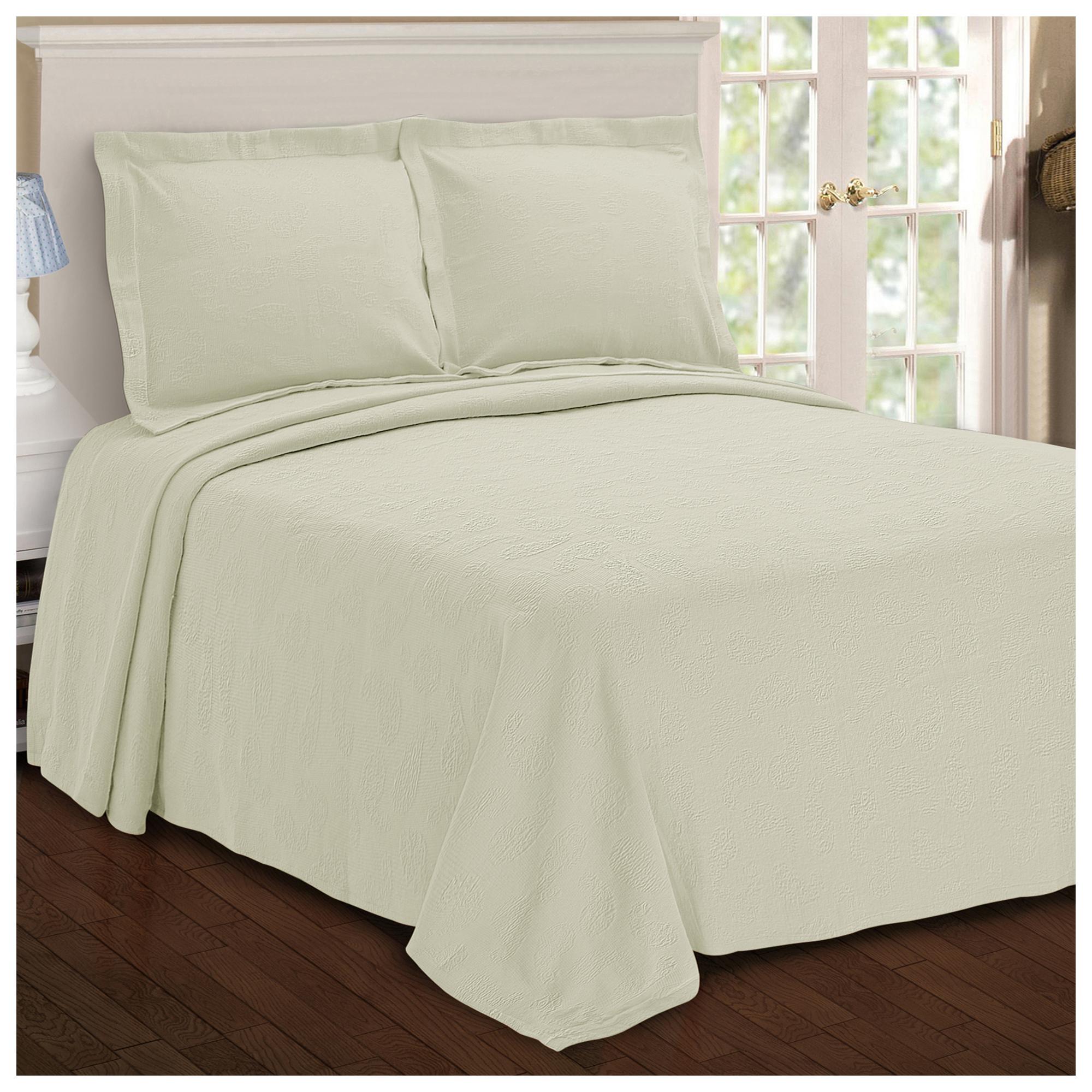 Paisley 100 Cotton Jacquard Matelasse Bedspread Ebay