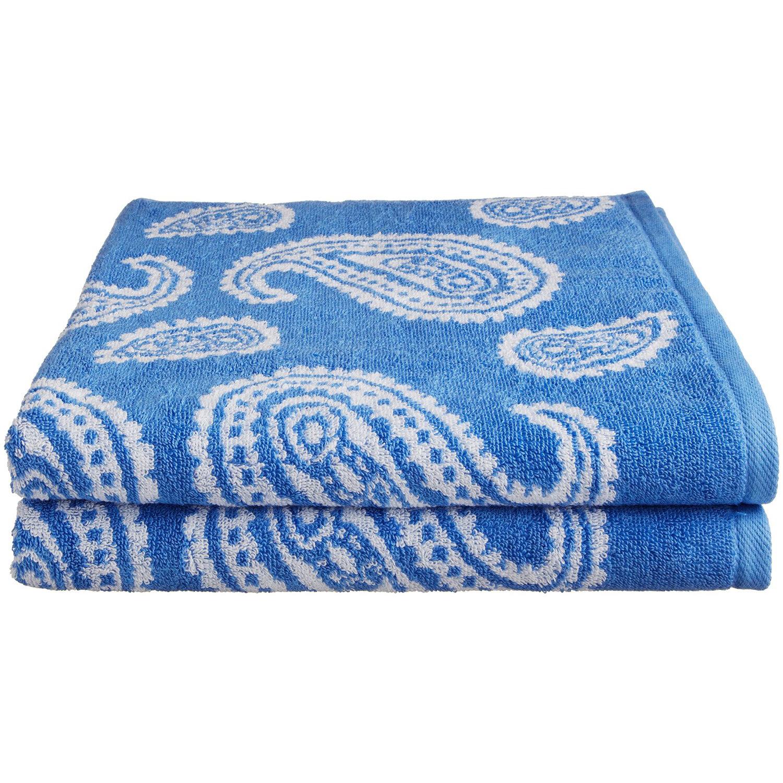 Ebay Vera Bradley Beach Towel: Paisley 2-Piece Bath Towel Set, Premium Long-Staple Cotton