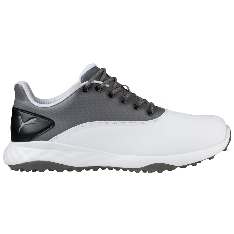 puma grip fusion golf shoes medium mens 18942503 white