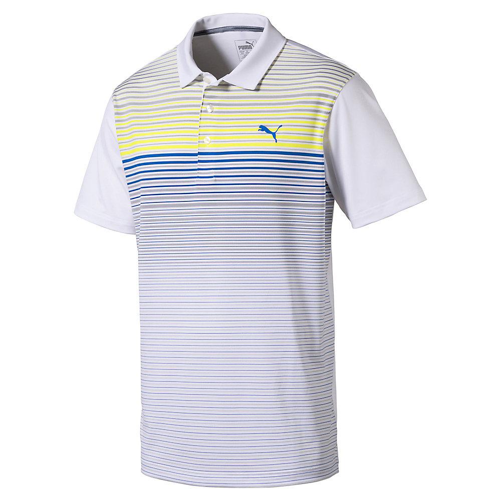 puma highlight stripe polo mens golf shirt 575811 new 2018 pick size color ebay. Black Bedroom Furniture Sets. Home Design Ideas