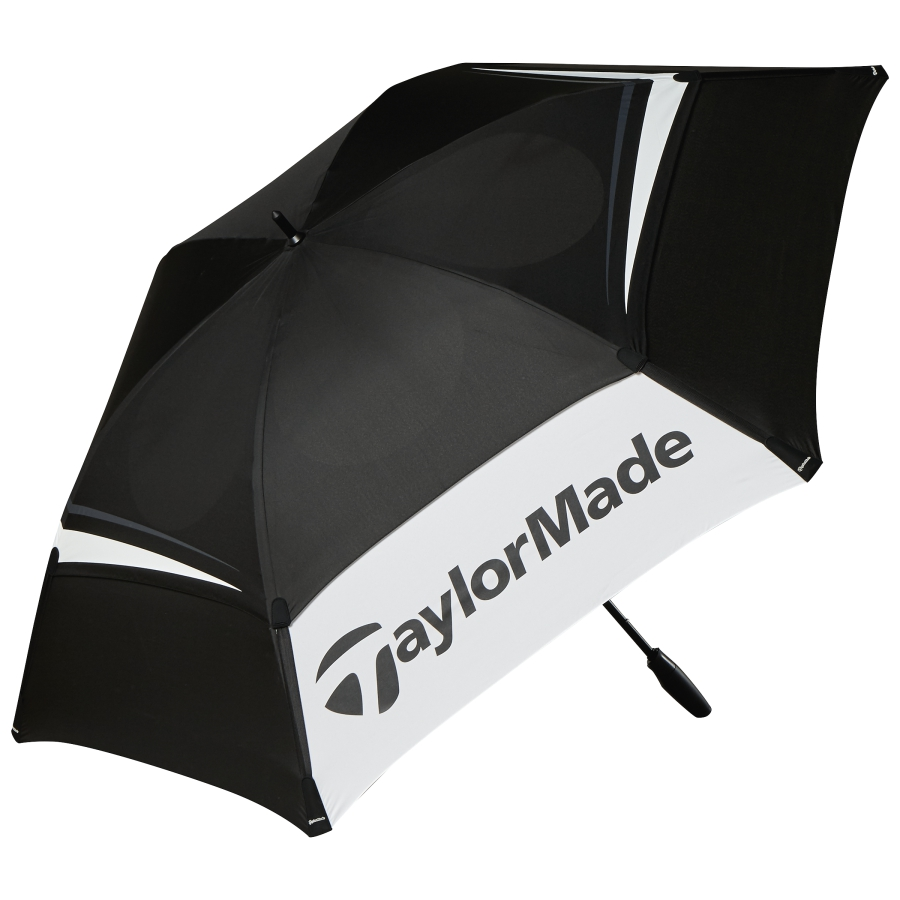 "taylormade 68"" golf umbrella double canopy -black/grey/white- new"