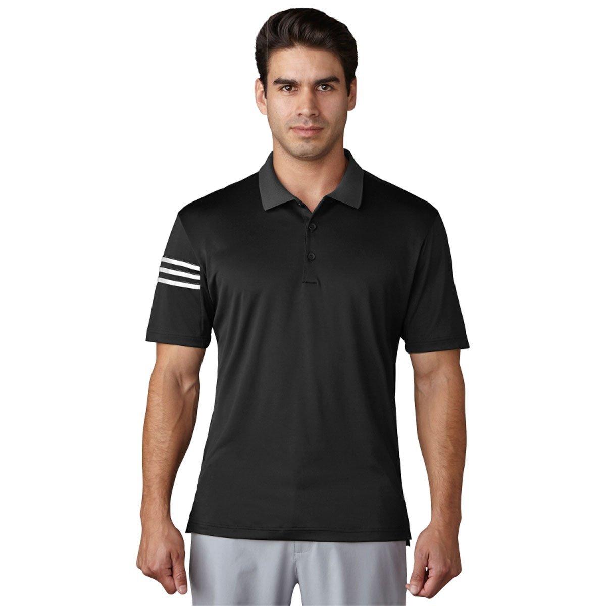 Adidas Climacool 3 Stripe Club Polo Mens Golf Shirt New