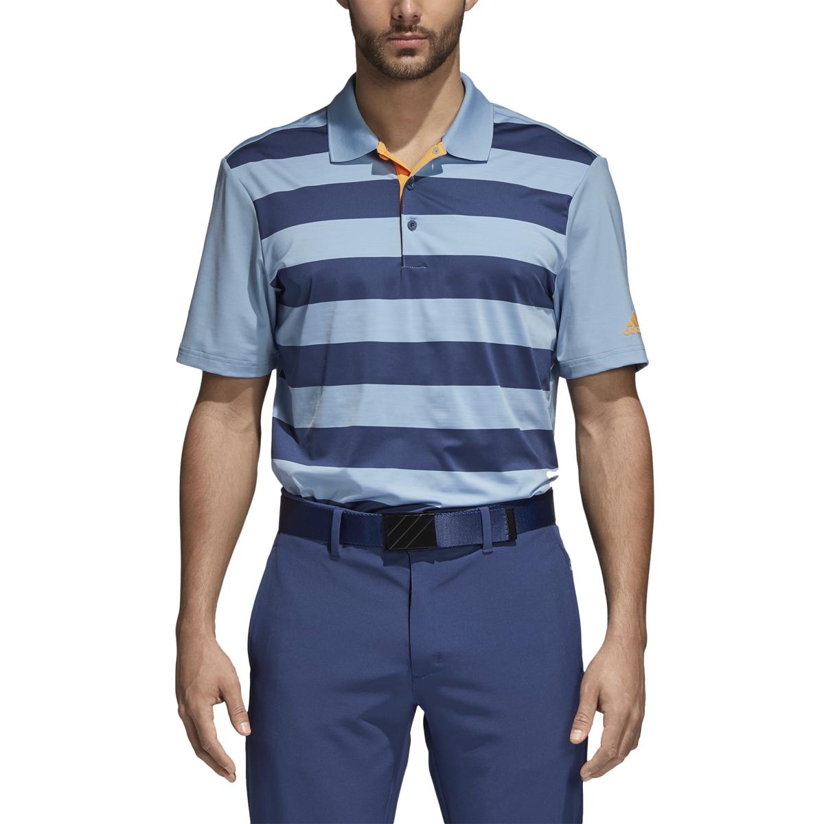 91b4d6e3 Adidas Ultimate 365 Rugby Stripe Polo - United MileagePlus Golf