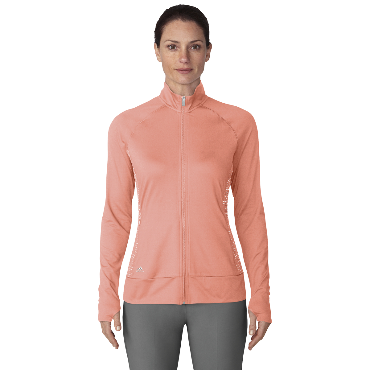 buy online 22f5e 1b291 2018 adidas Women Rangewear Full Zip Golf Jacket Chalk Coral X-small. About  this product. Picture 1 of 2 Picture 2 of 2