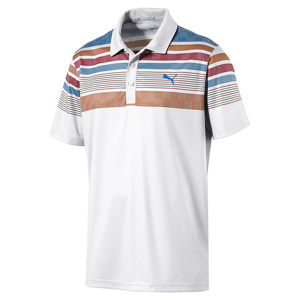 Puma Jersey Stripe Polo Mens Golf Shirt 572200 New 2017