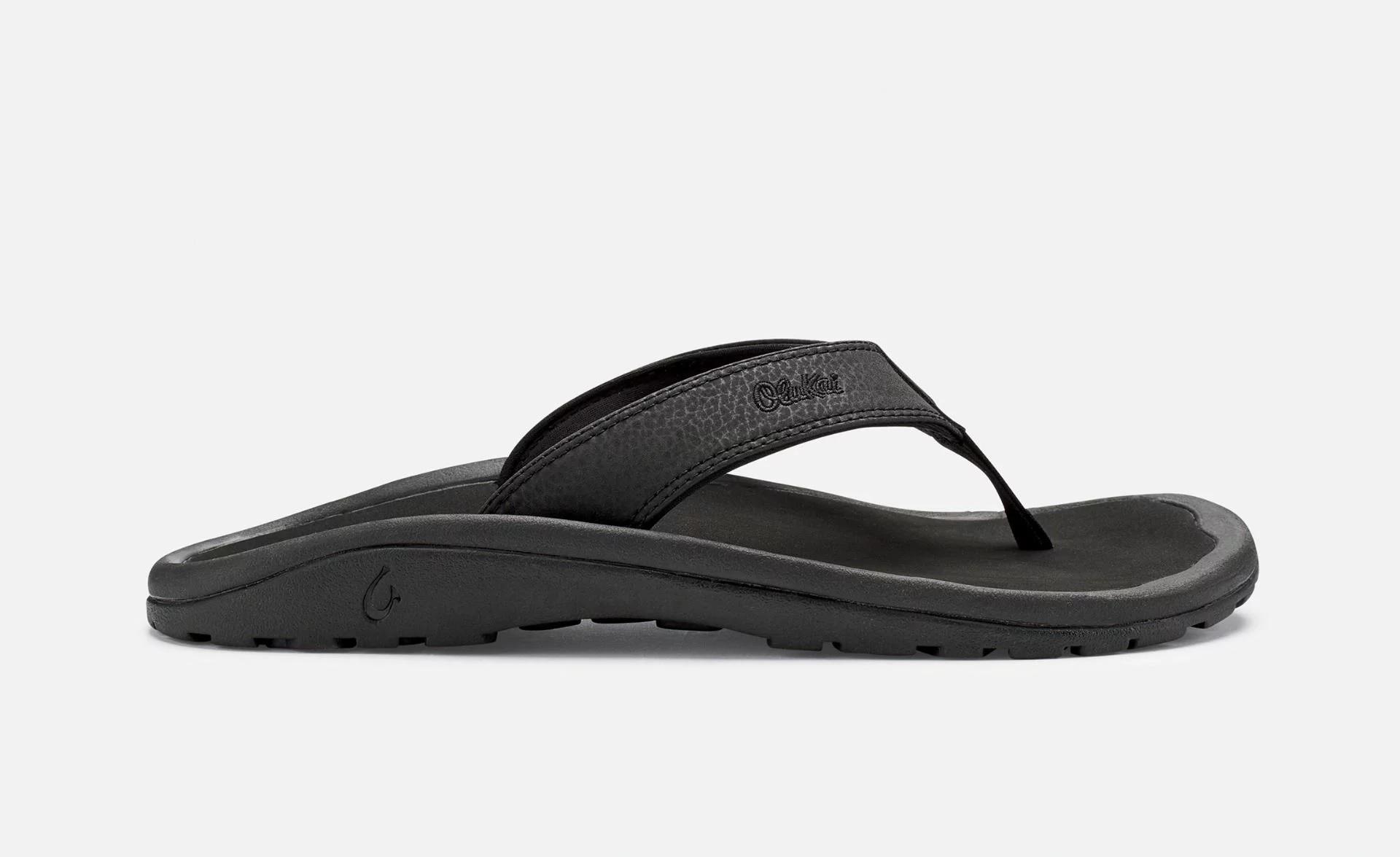 3f673428c06b OluKai Mens Sandals Ohana Black Size 14 ...