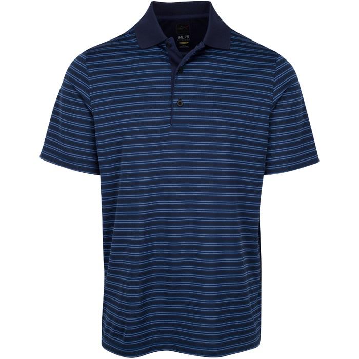 Greg norman protek ml75 microlux stripe polo mens golf for Greg norman ml75 shirts