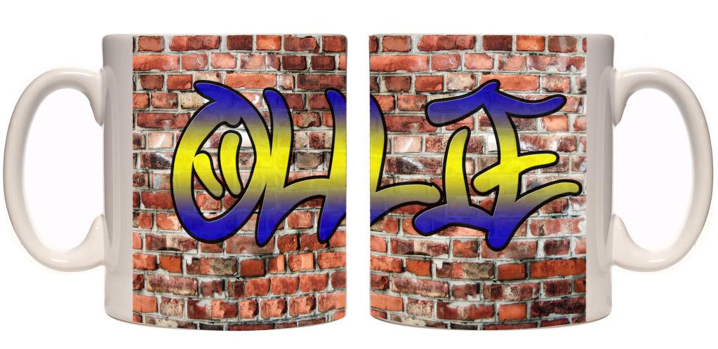 Boys Name Graffiti Personalised Mug Birthday Gift Teenager Custom