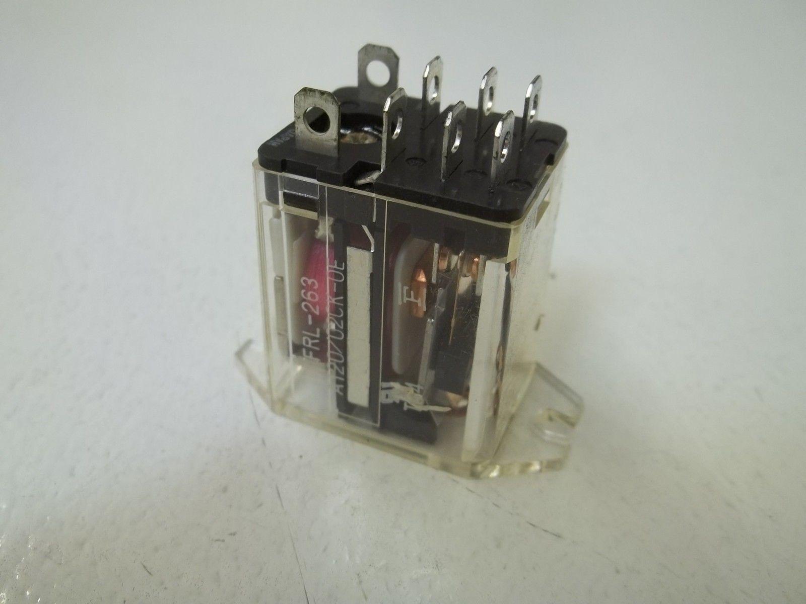 FUJITSU FRL-263 A120//02CK-0E RELAY 120VAC *USED*
