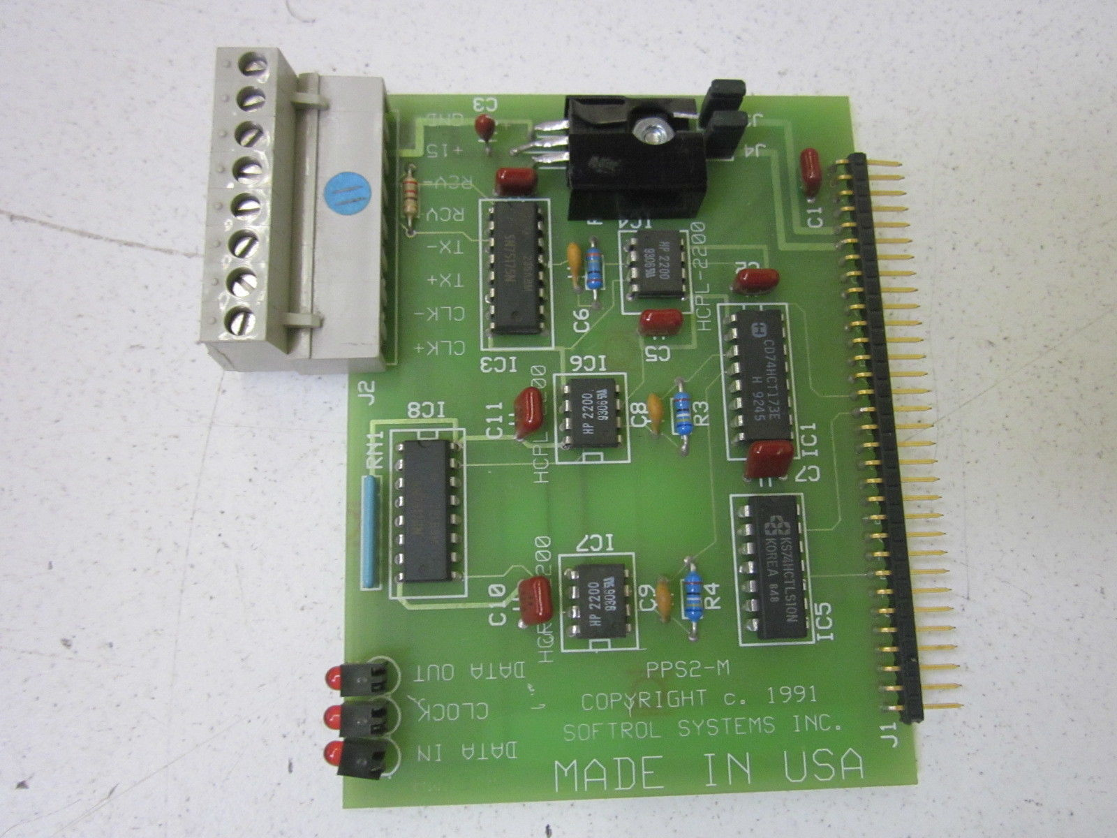 Used WARRANTY Softrol IDR-8G4 PC Circuit Board Assembly