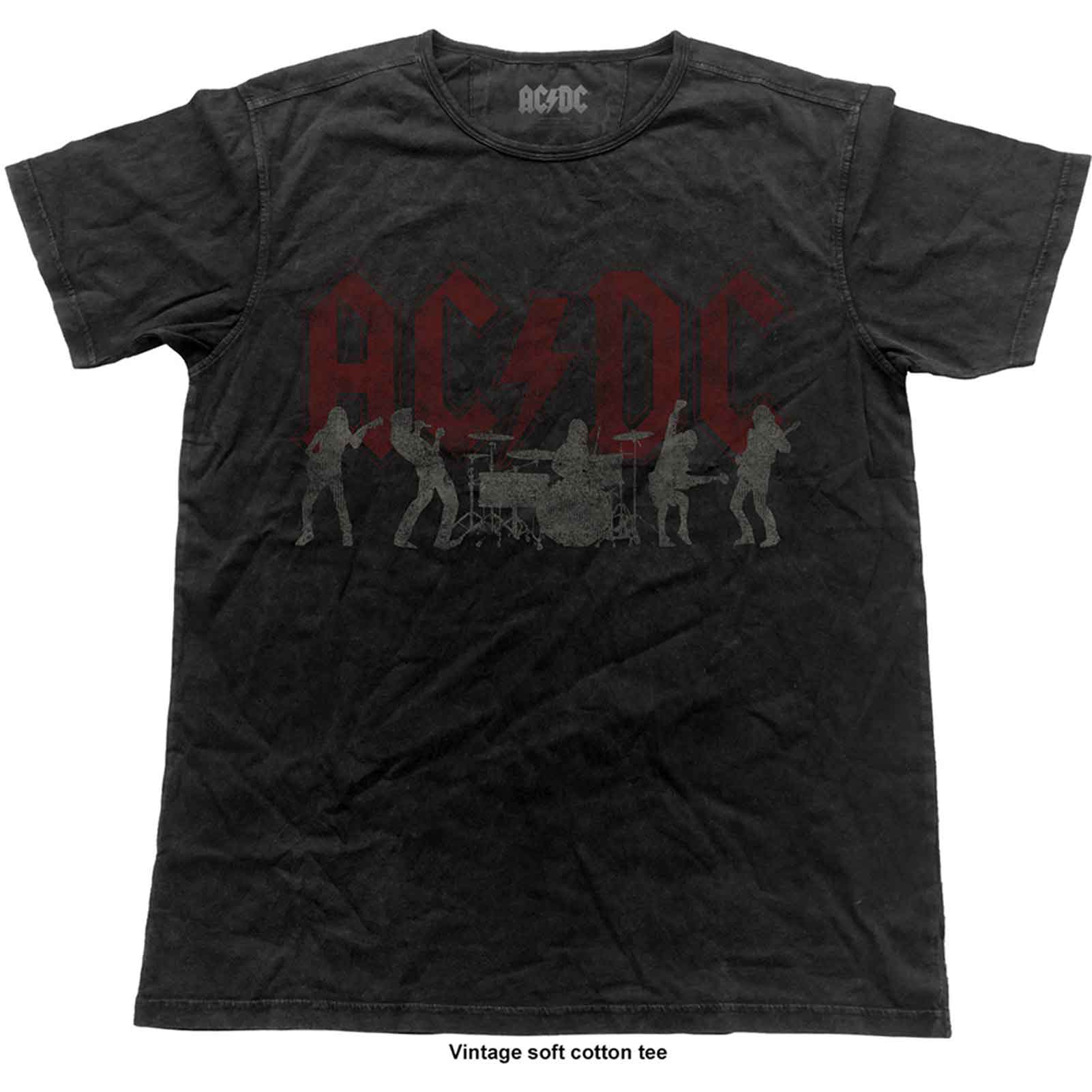 AC/DC T Shirt band logo Silhouettes new Official Mens Vintag