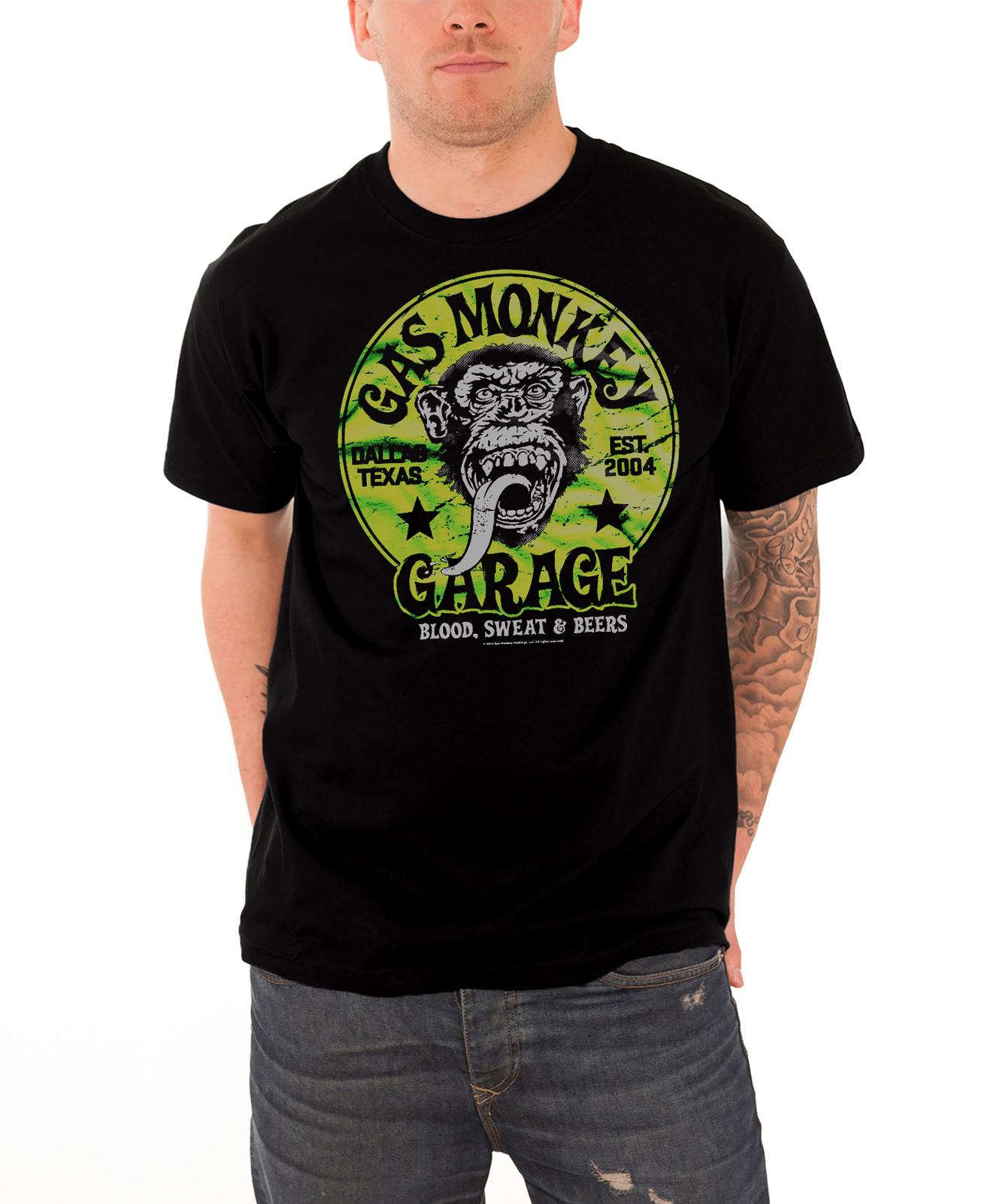 Gas Monkey Garage T Shirt Mens GMG Logo Kustom Builds New