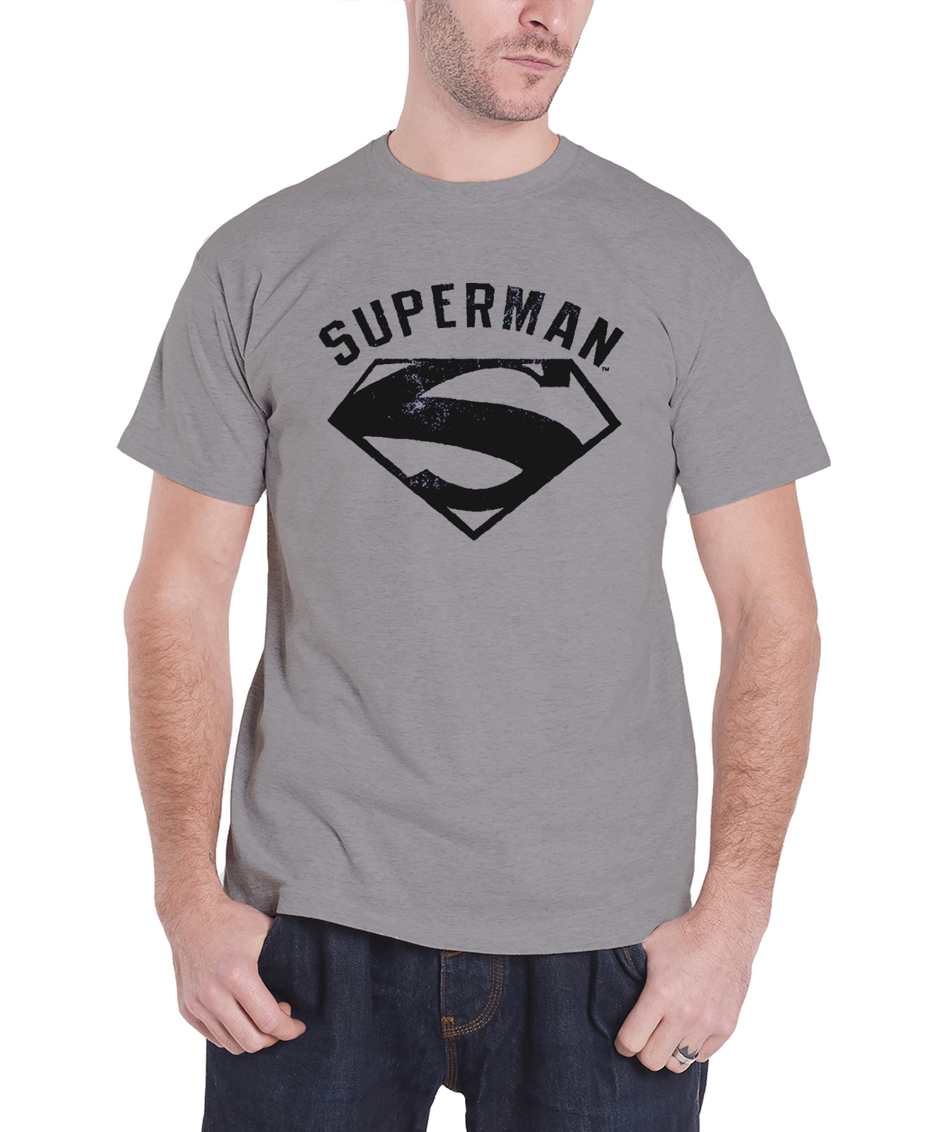 DC Superman Logo Spray Mens Navy TS