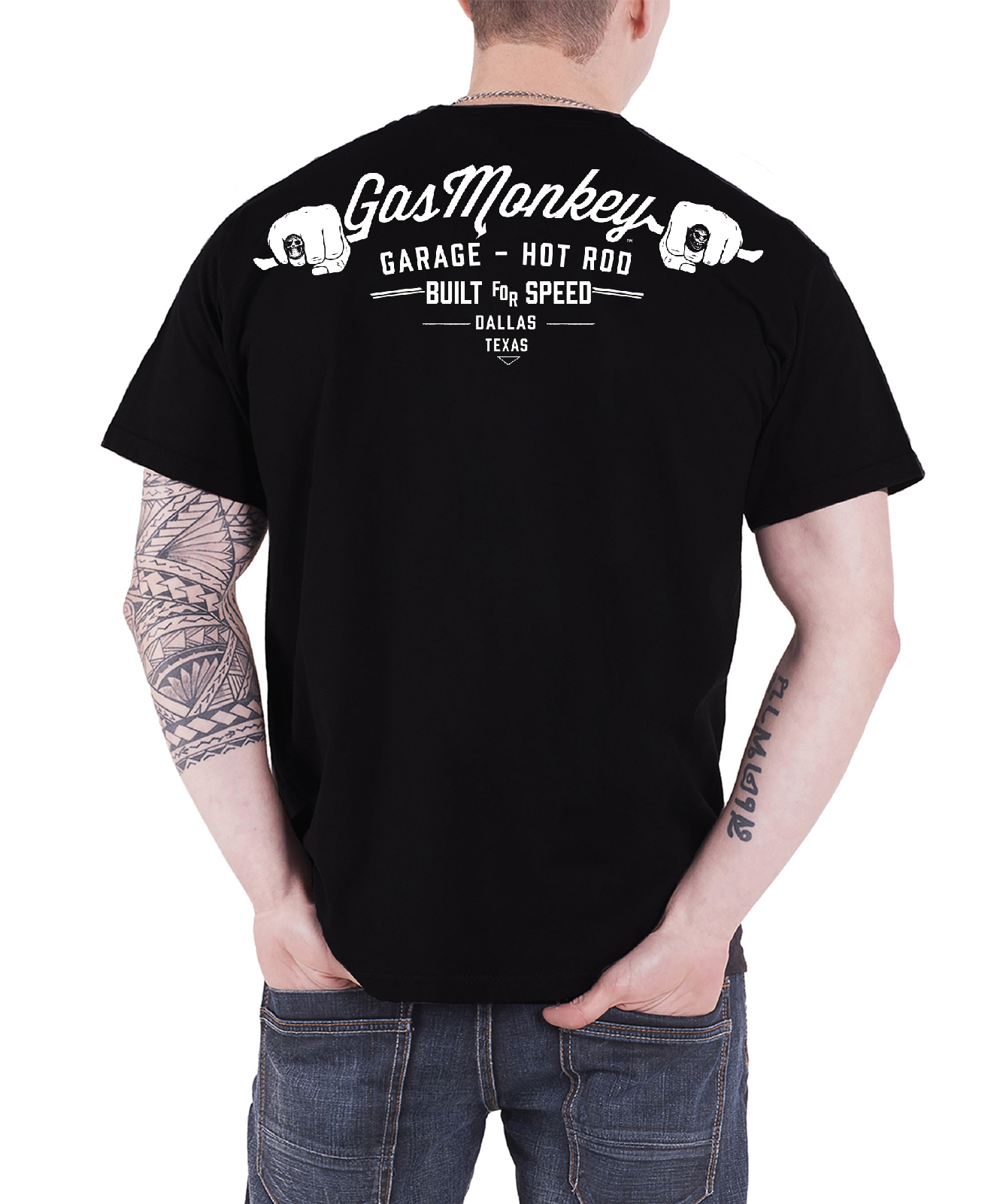 d8407cddc Gas Monkey Garage T Shirt Official GMG Logo Kustom Builds new ...