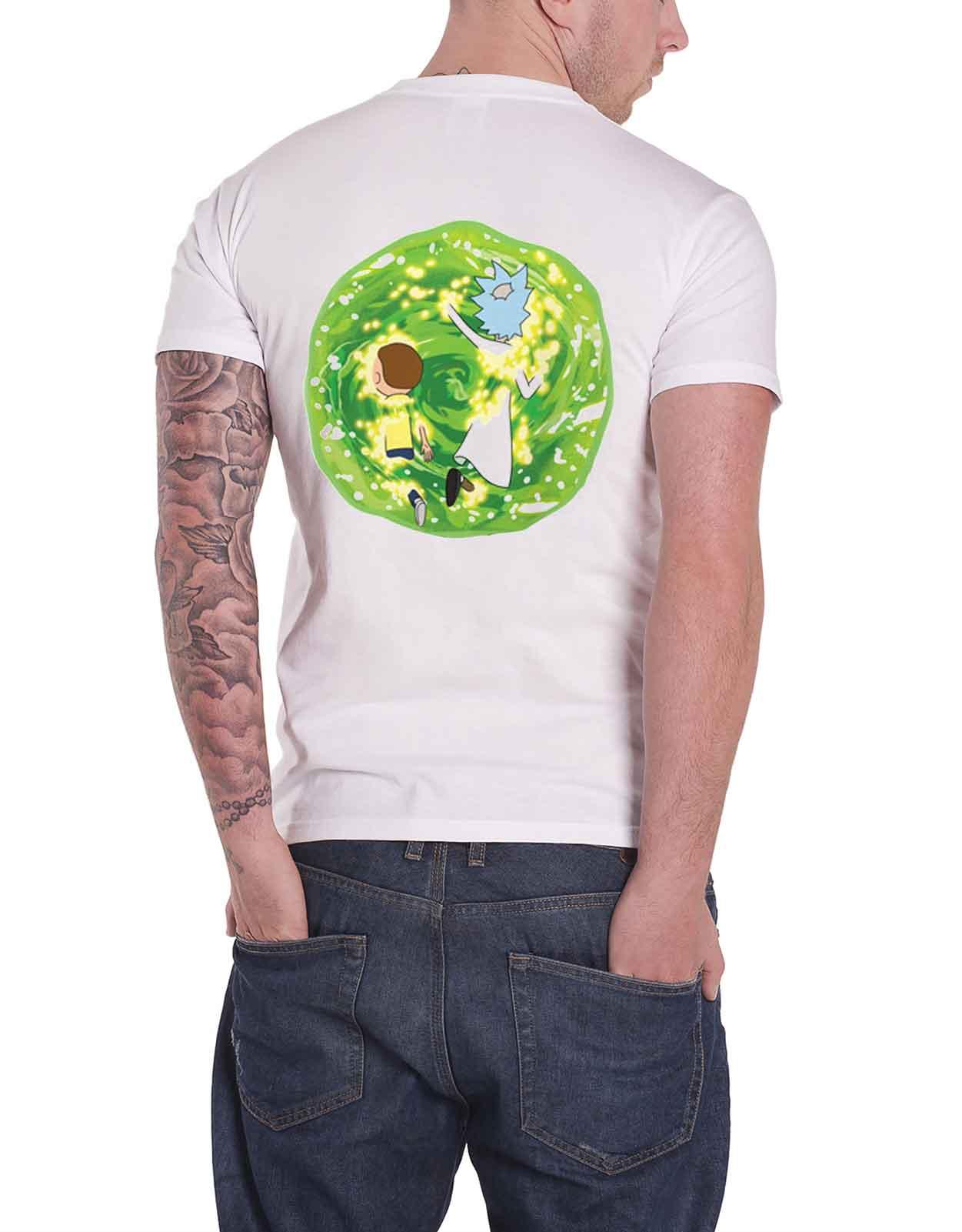 Rick-and-Morty-T-Shirt-Pickle-Rick-Portail-spirale-Wubba-Lubba-nouveau-officiel-Homme miniature 37