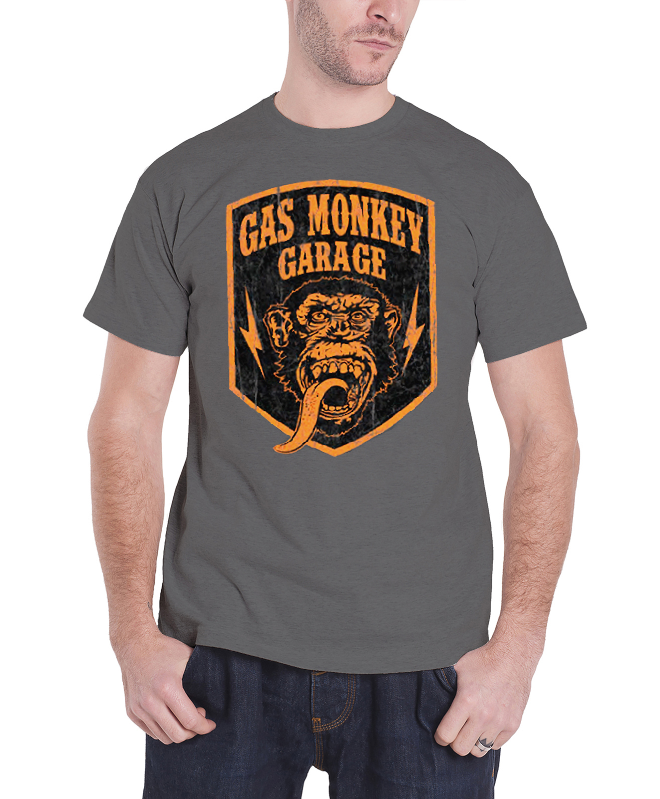 Gas Monkey Garage T Shirt Official GMG Logo Kustom Builds