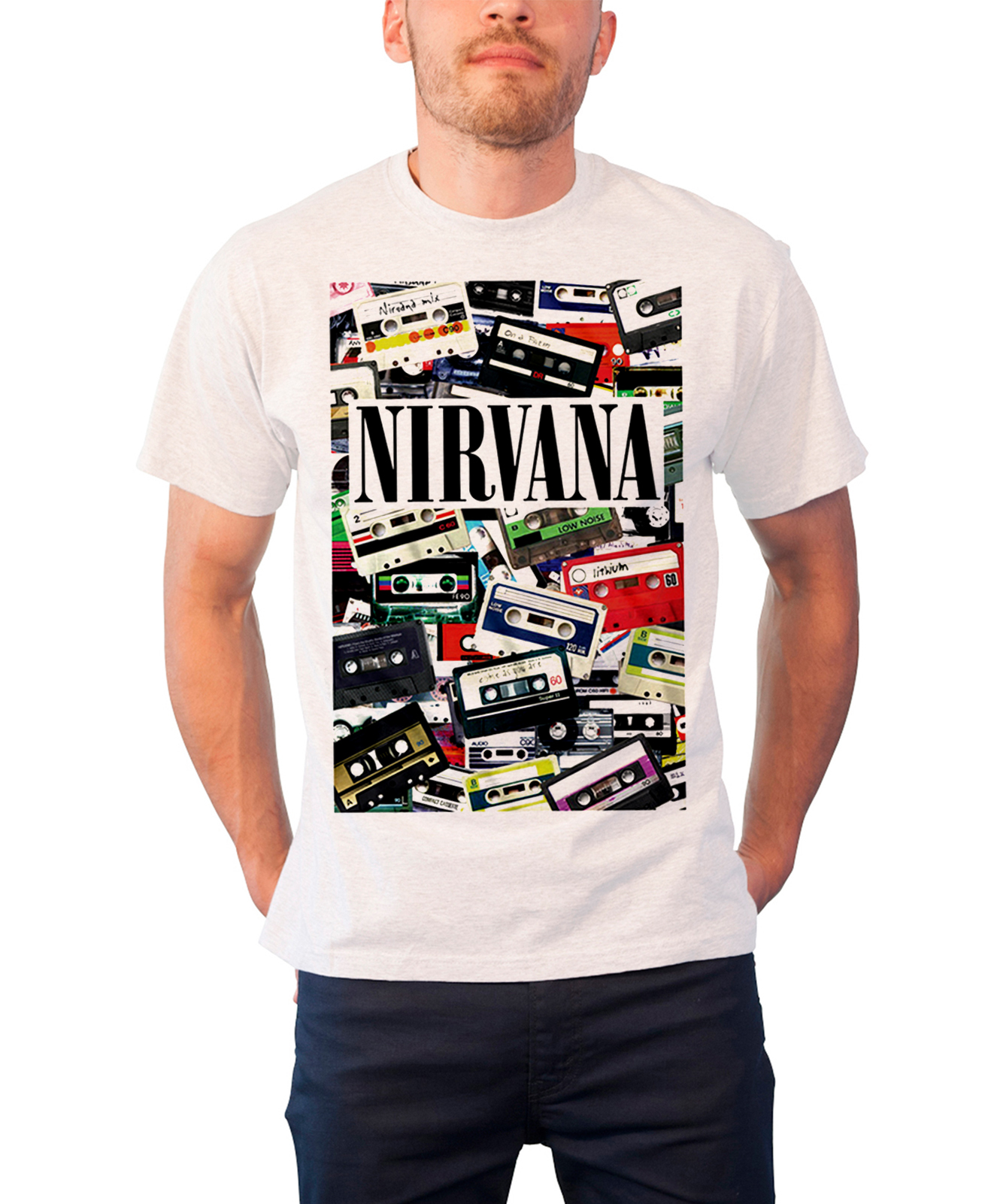 f47878bd Nirvana T Shirt Cassettes Band Logo Nervermind In Utero Official ...