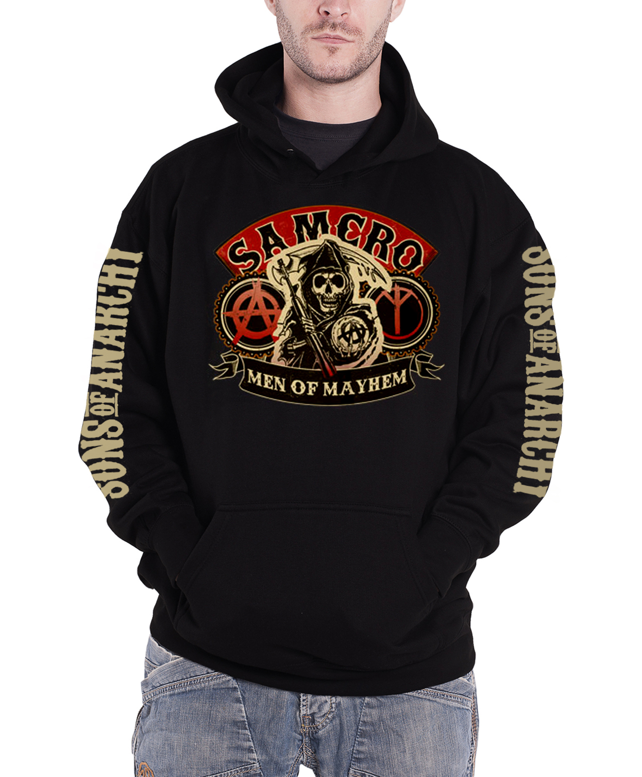sons of anarchy hoodie reaper samrco logo soa crew. Black Bedroom Furniture Sets. Home Design Ideas