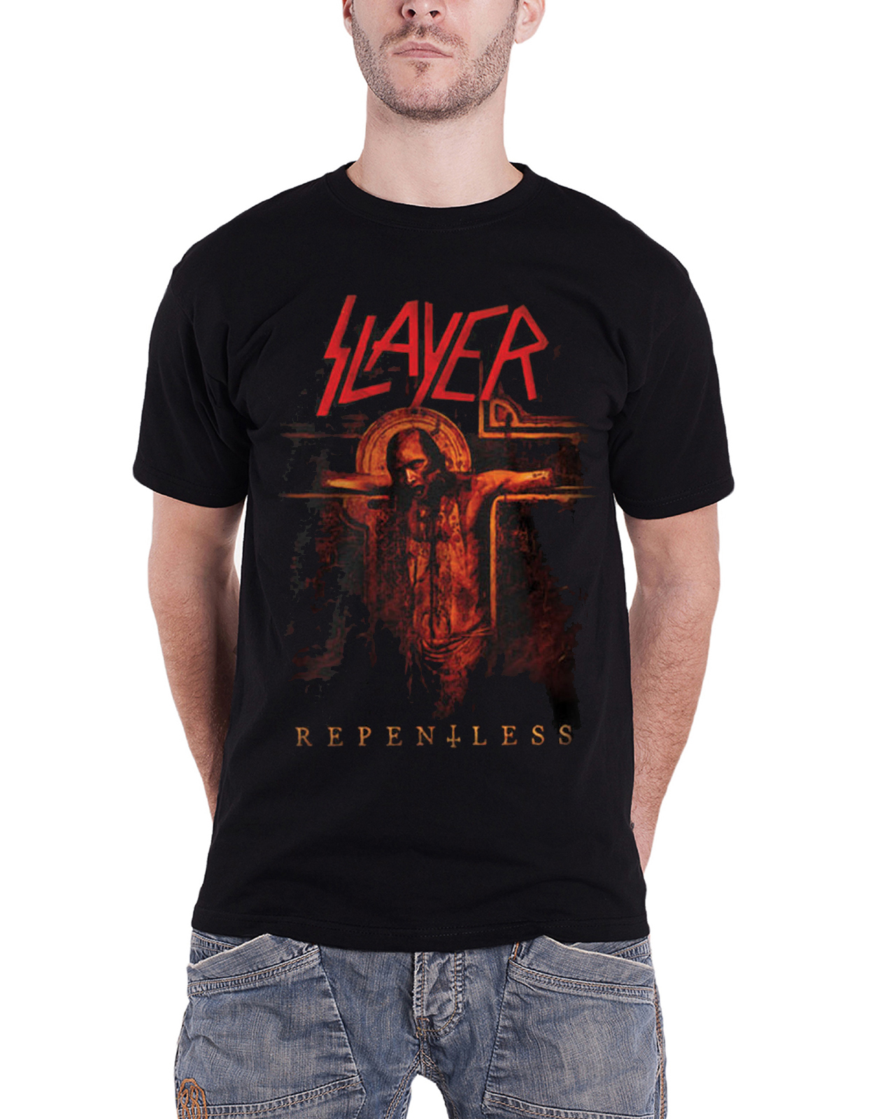 slayer t shirt official band logo reign in blood thrash. Black Bedroom Furniture Sets. Home Design Ideas