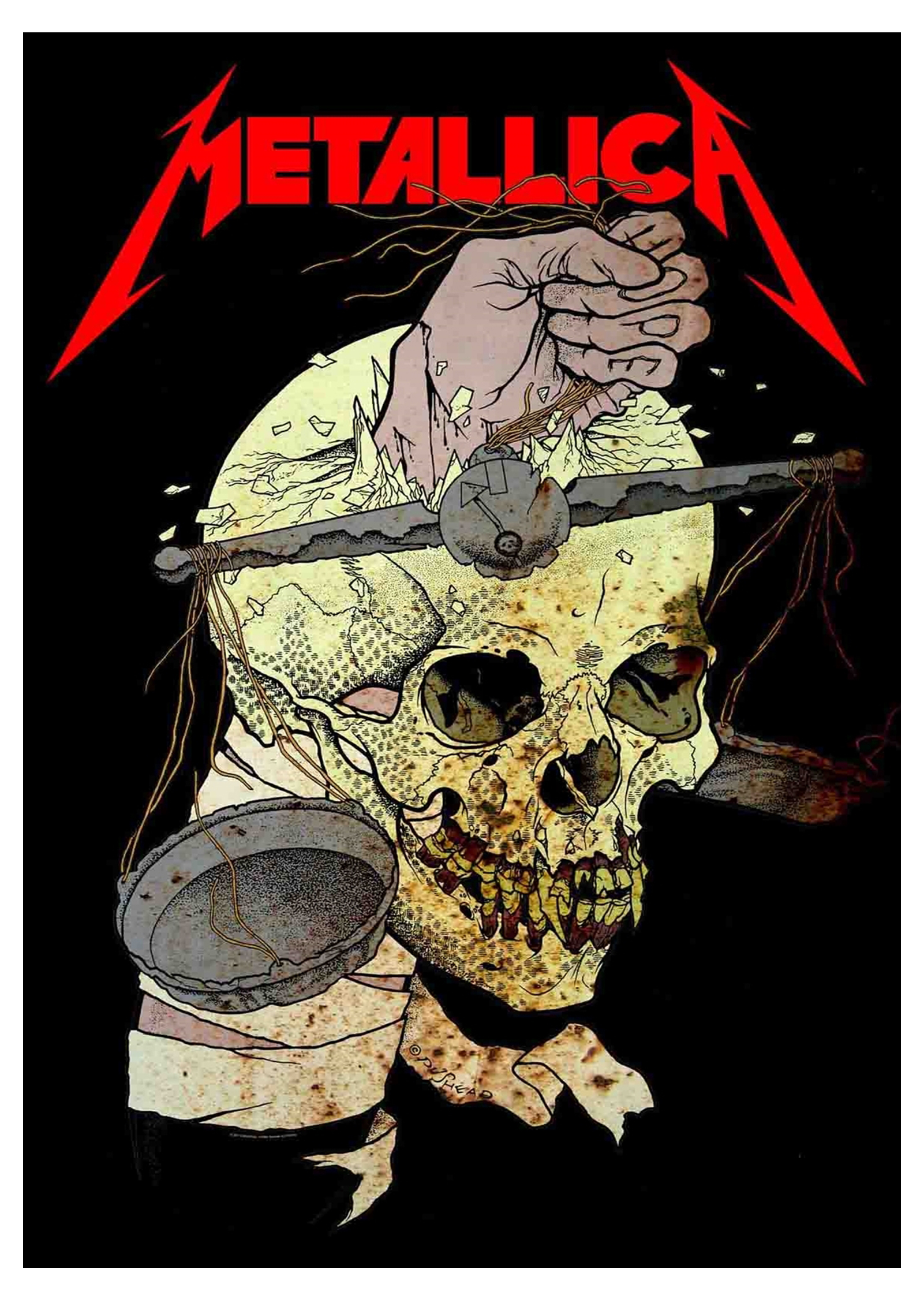 Metallica Poster Master Of Puppets Justice For All Band