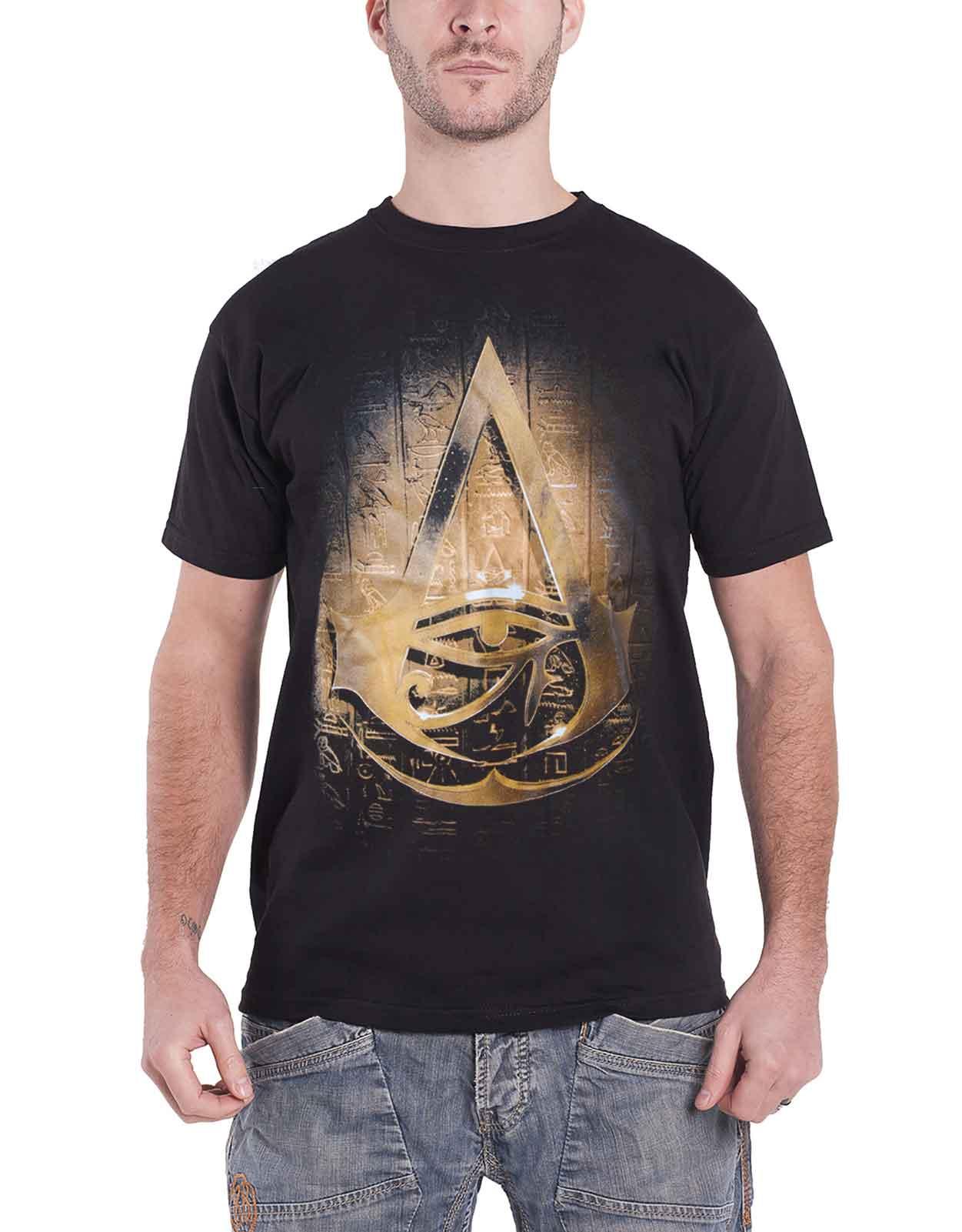 d548caf9 Image is loading Assassins-Creed-T-Shirt-Hieroglyph-Crest-Origins-new-