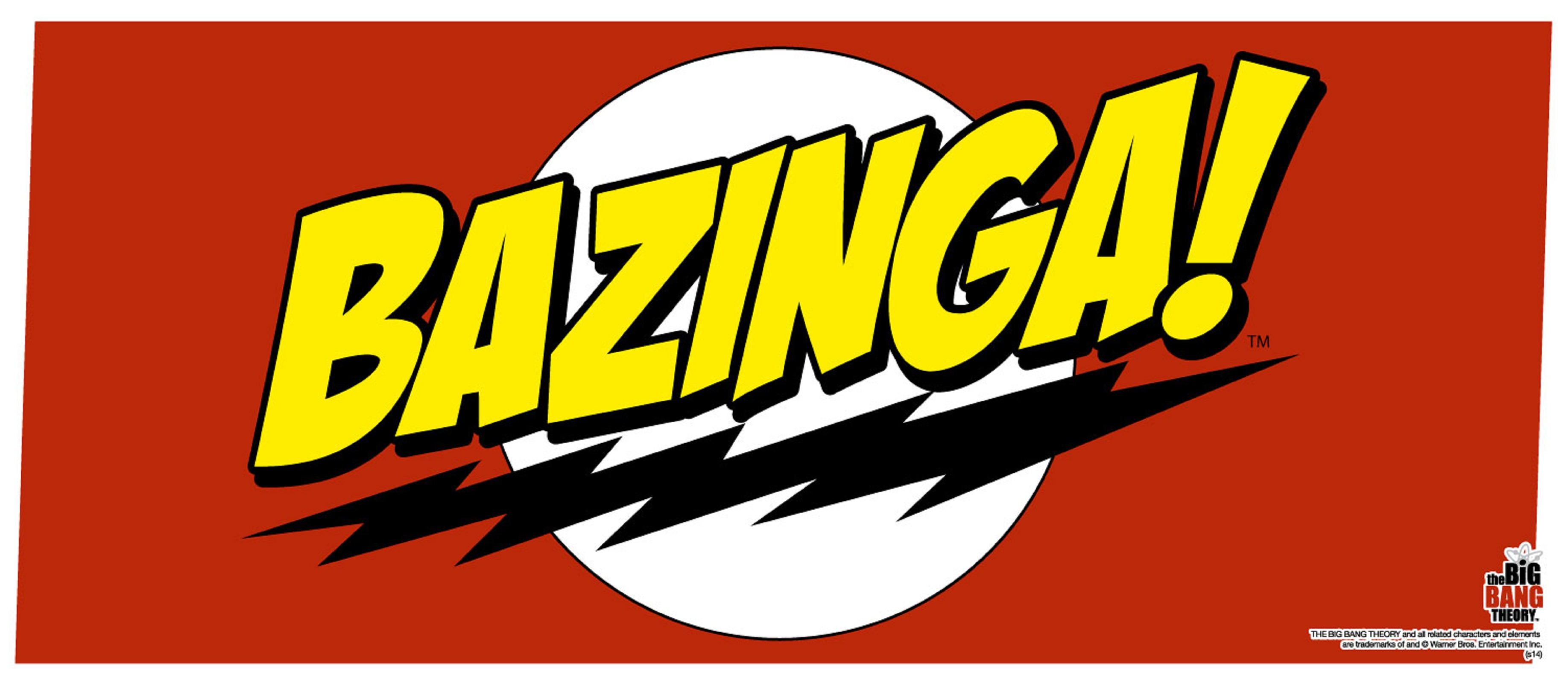 the big bang theory mug bazinga sheldon logo new official boxed ebay rh ebay com bazinga logo generator bazinga logo