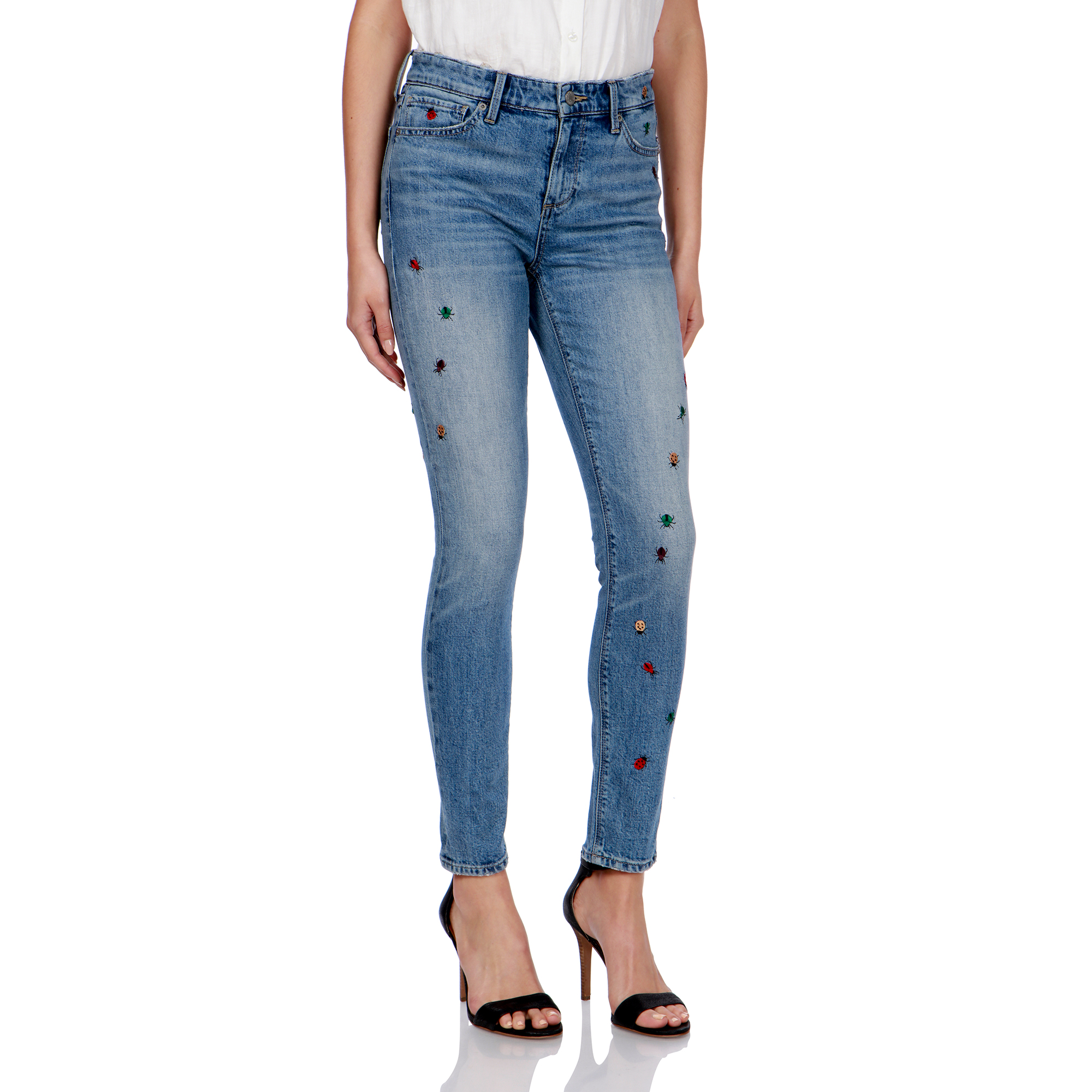 Monterey Wash Chicas Ropa Lucky Brand Niños Zoe Jeans w/ Embroidery  (Toddler)