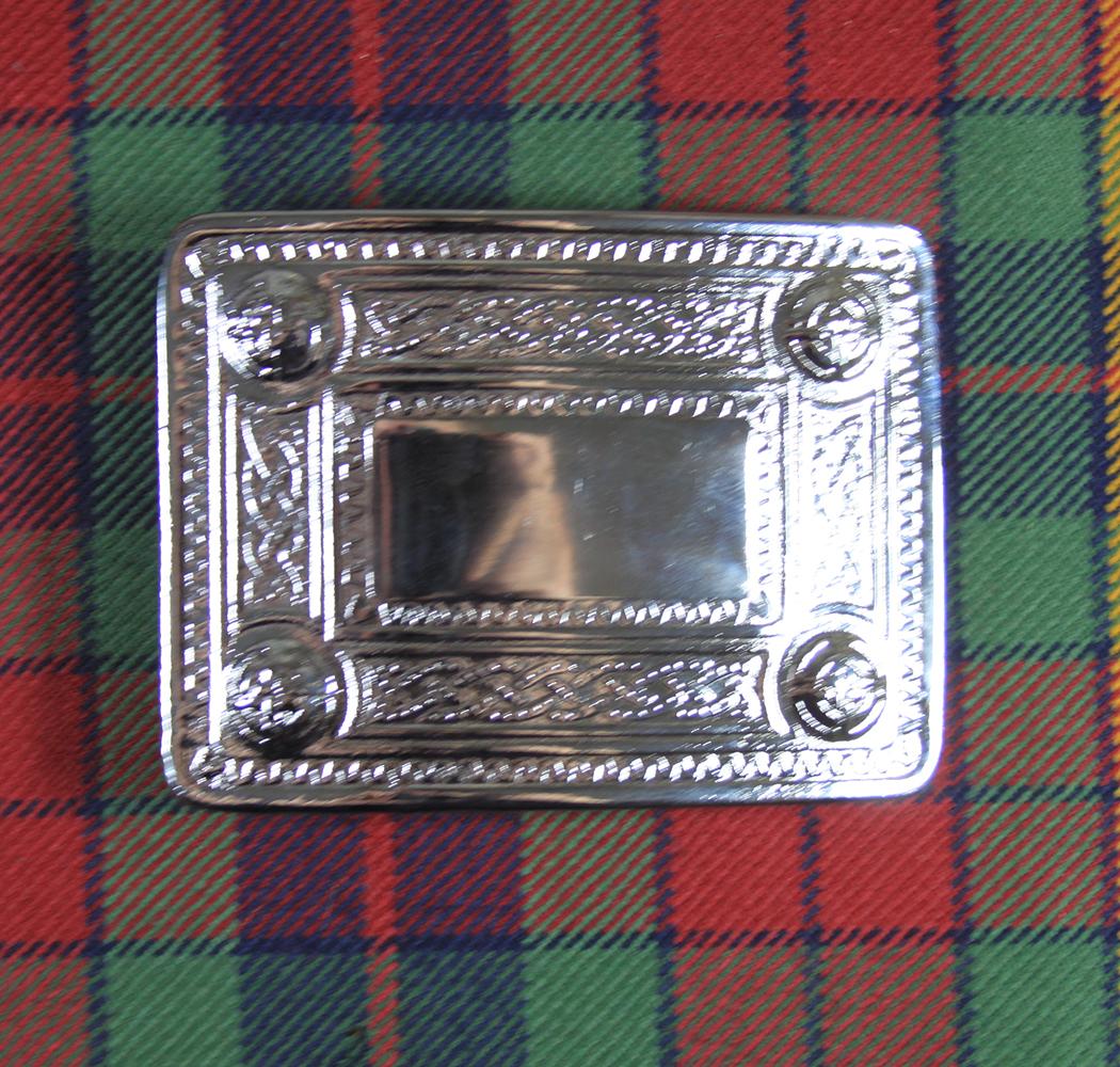 Celtic entrelazados patrón Kilt Hebilla de cinturón acabado antiguo//Kilt Cinturón Hebillas Celta