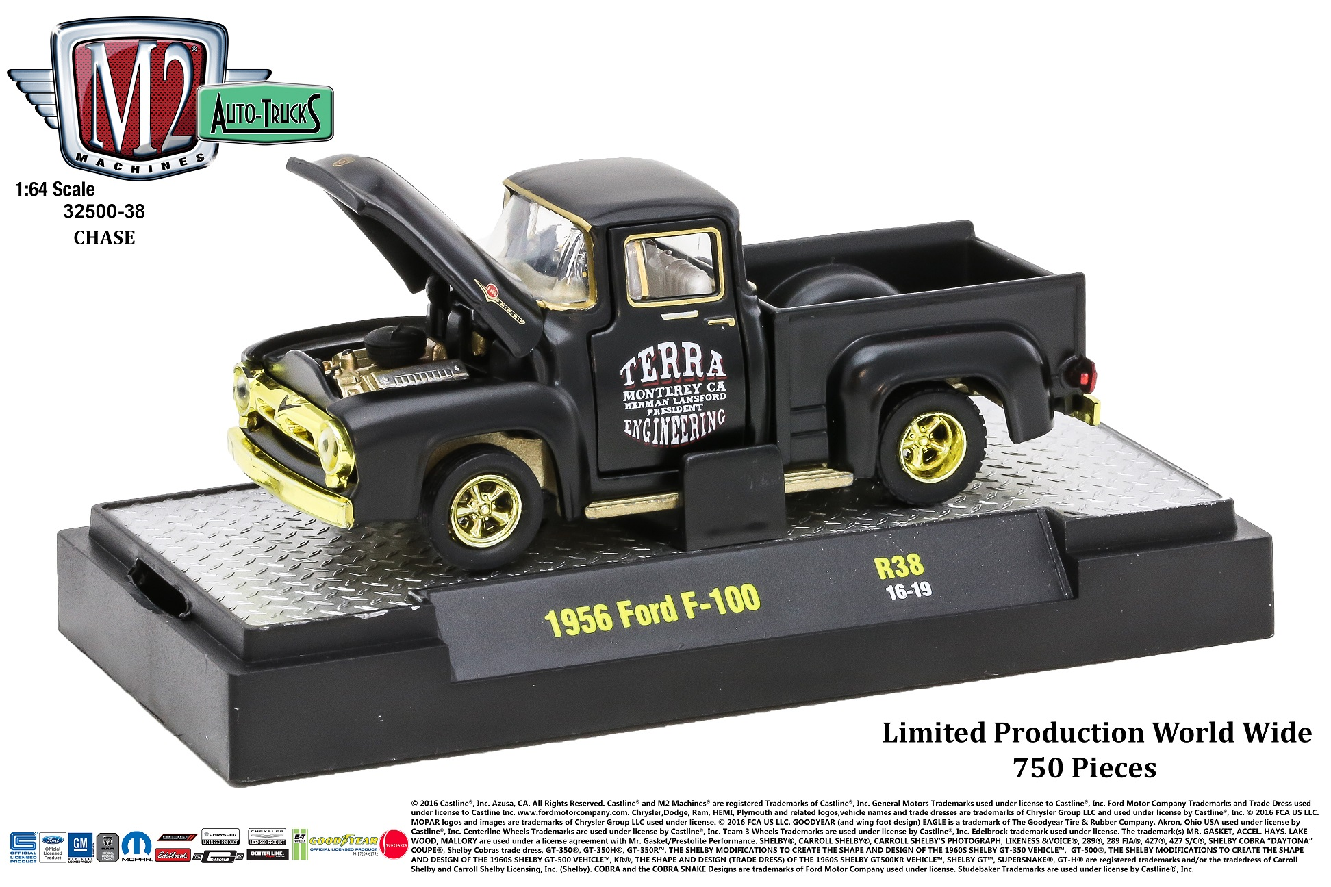 M2 Machines Auto Trucks Release 38 1:64 1956 Ford F-100 Truck CHASE ...