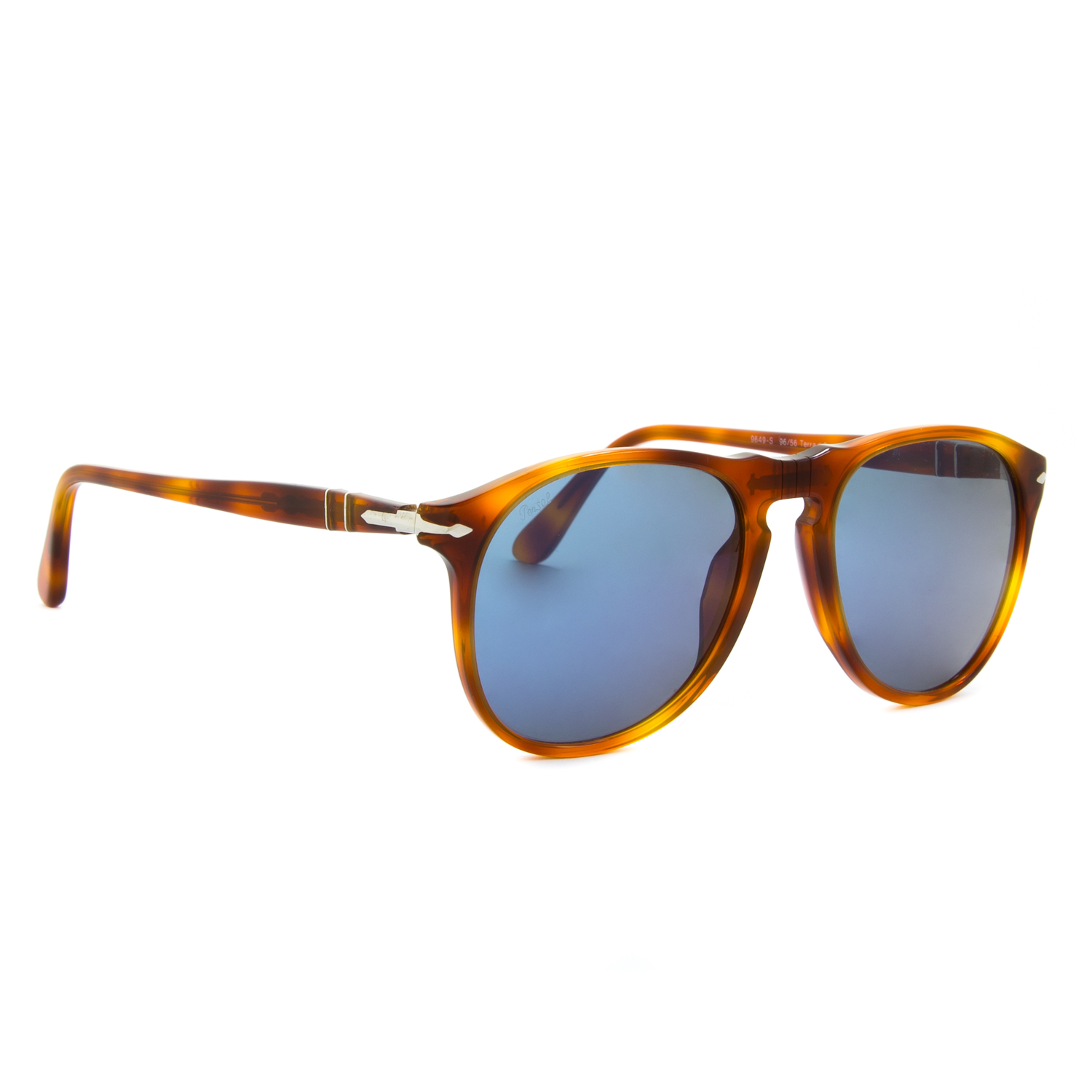 5a643780b9 Persol 9649 Aviator Sunglasses 96 56 Terra Di Siena Light Havana ...