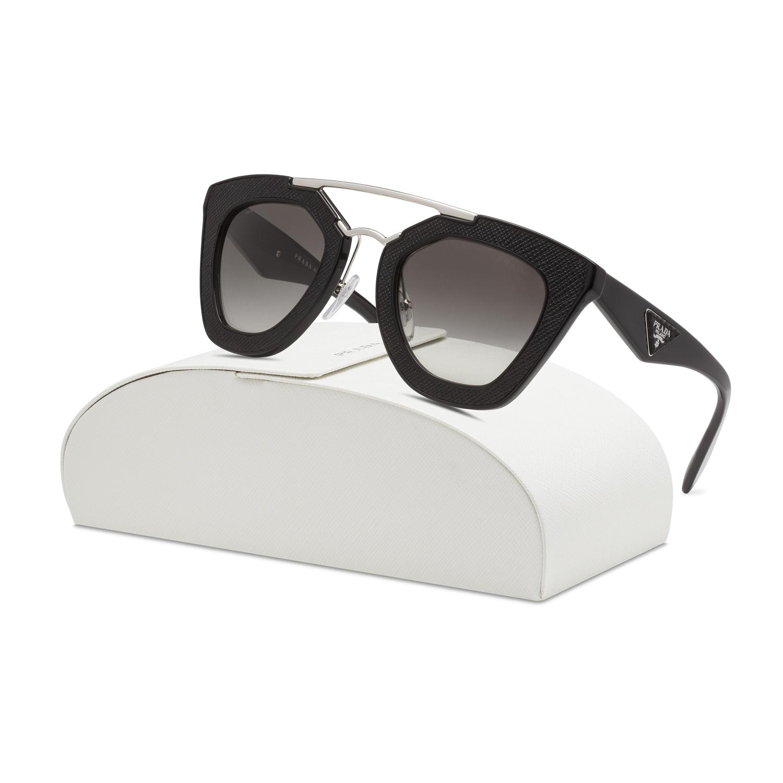 e384dc8a5e76 Prada 14SS Womens Sunglasses 1AB0A7 Black Frame Grey Gradient Lenses ...