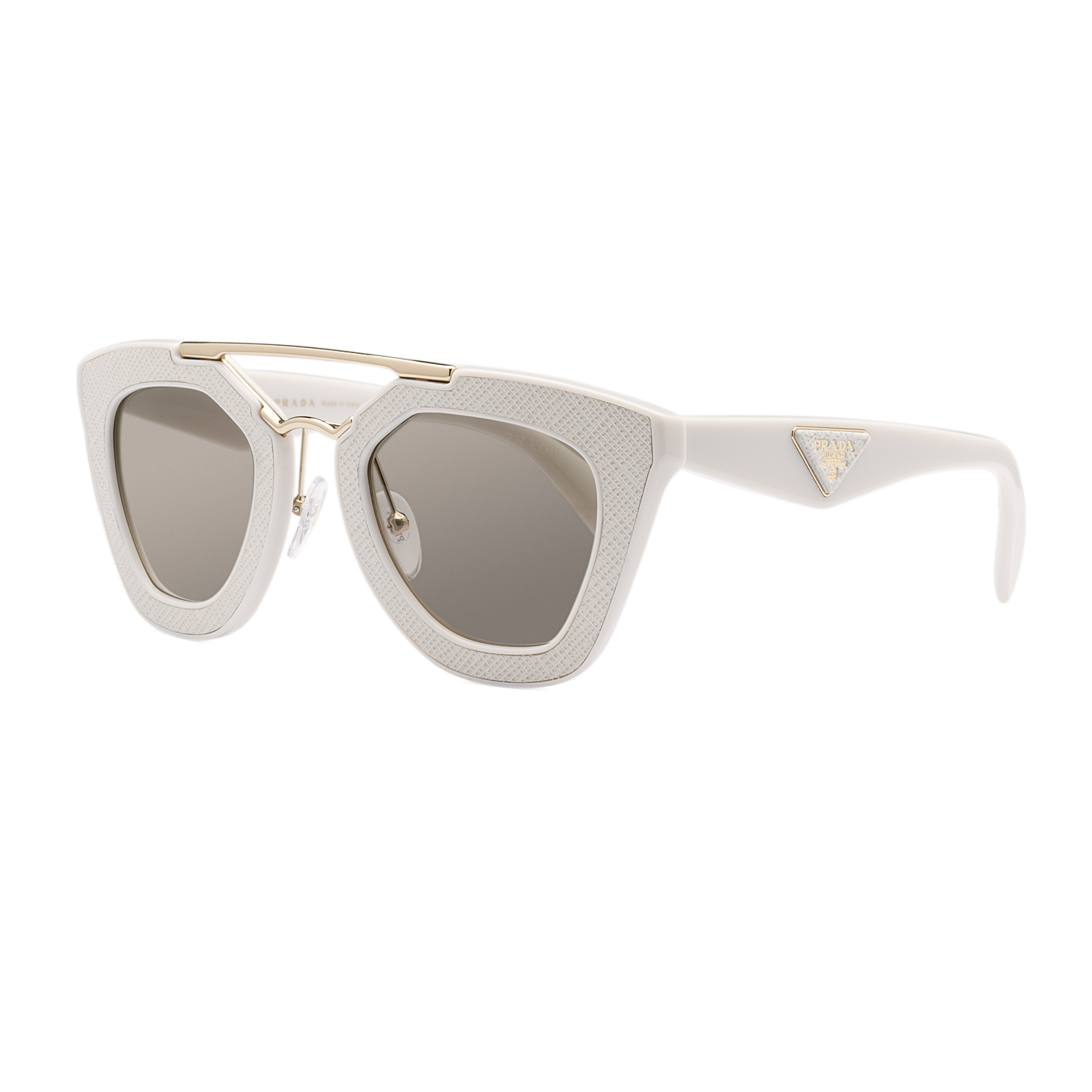 395bbbb1cd7c Prada 14SS Sunglasses UFP3H2 Ivory / Brown Gradient 8053672536416 | eBay