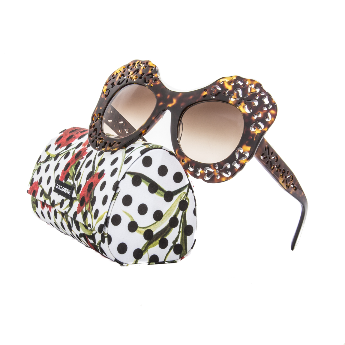 8ca9480a28cb Details about Dolce   Gabbana 4256 Sunglasses 502 13 Dark Havana - Spain  Italy LIMITED EDITION