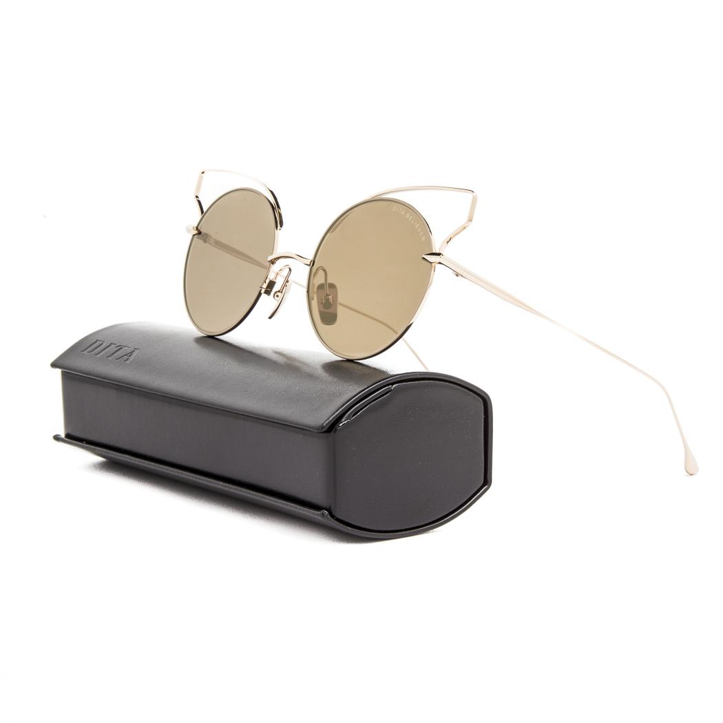 b8f3847c208f Dita Believer Sunglasses 23008B Tan 12K Gold / Dark Brown Gold Flash ...
