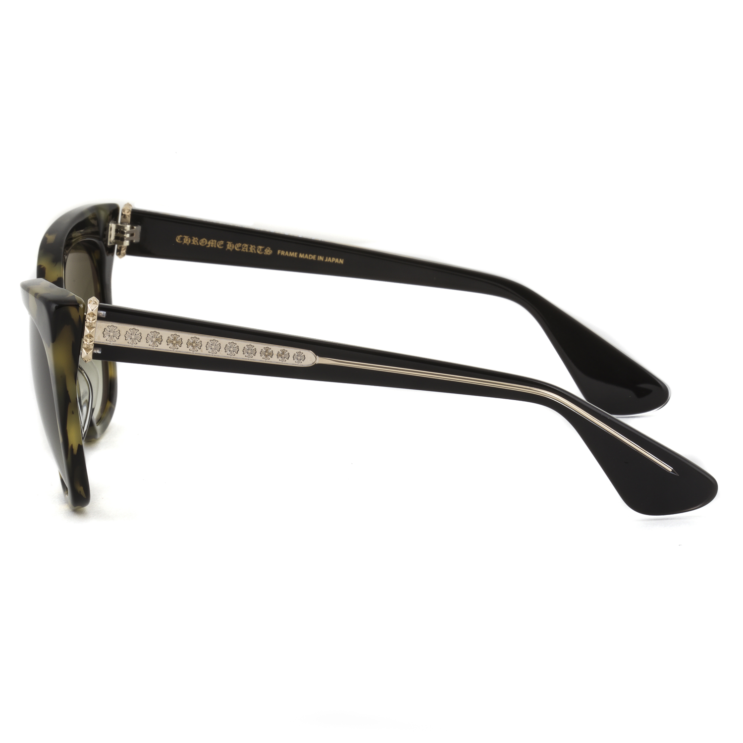 Chrome Hearts Glitter Goo II Sunglasses Tortoise Brown Black / Green ...