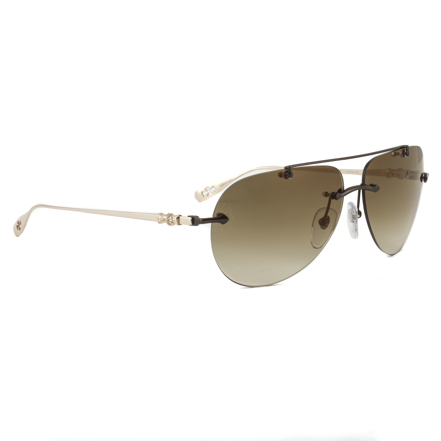 dfeed3f1a705 Chrome Hearts Stains V Sunglasses Shiny Chocolate Brown Gold Frame Gradient  Lens